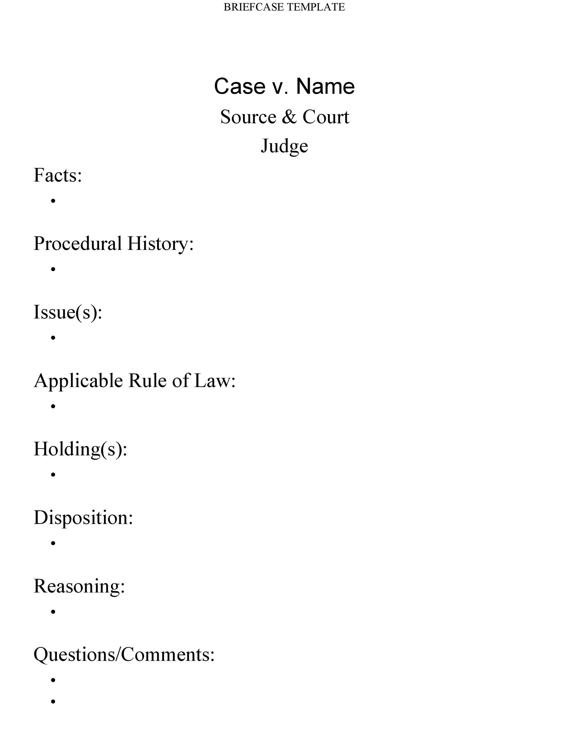 Free case brief template 10