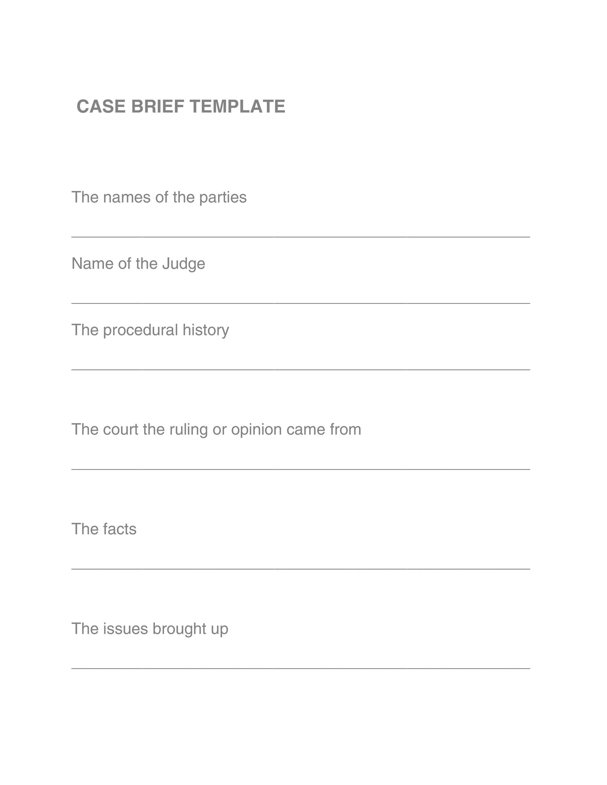 Free case brief template 13