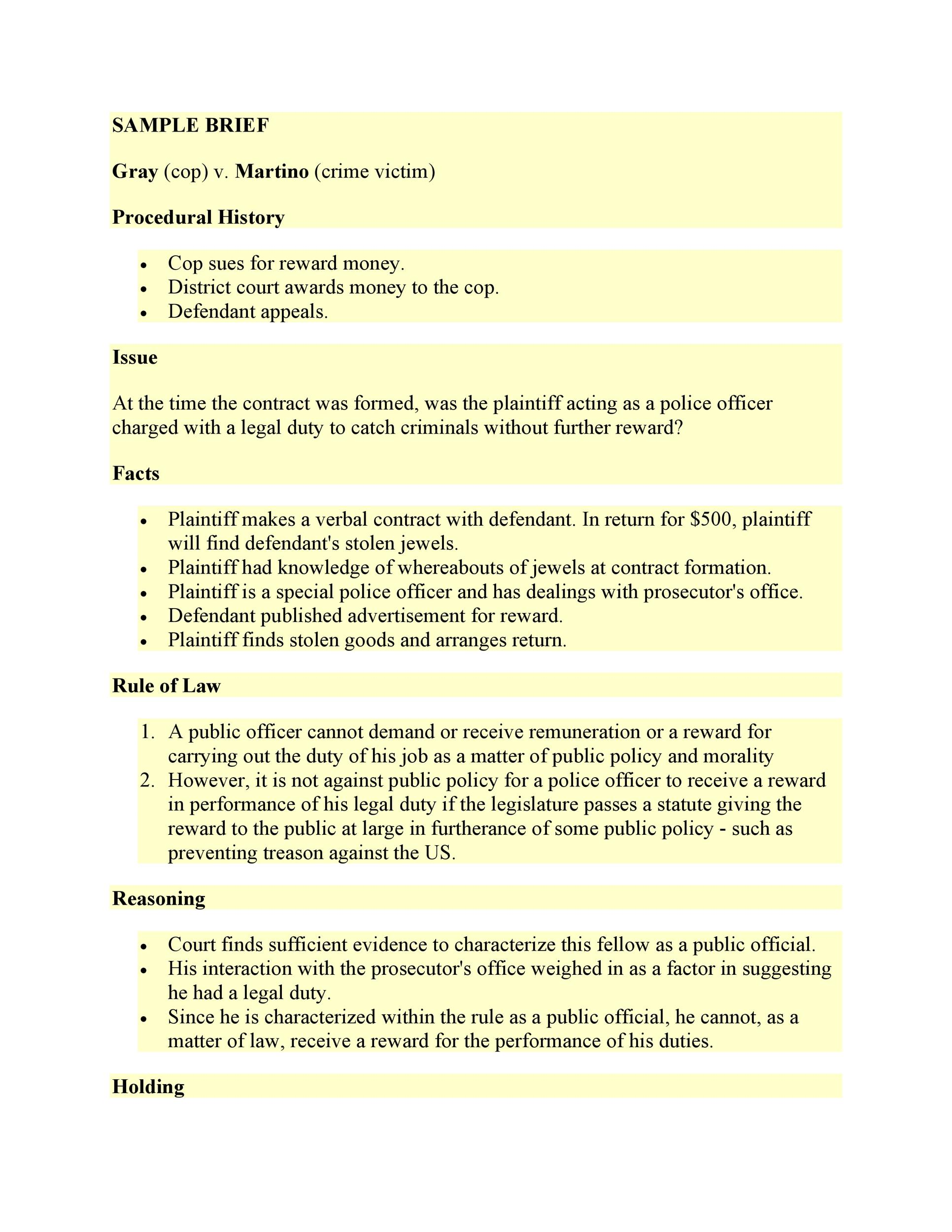 Free case brief template 18