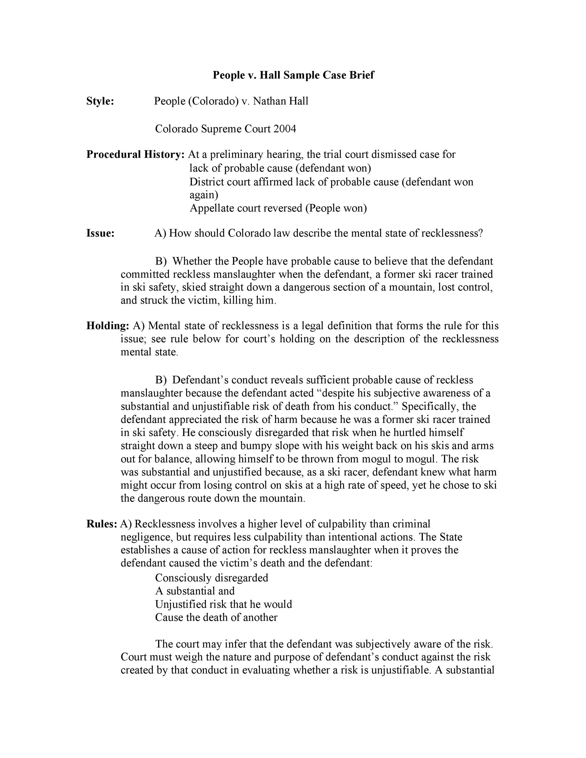 Case Brief Examples Templates Template Lab - Legal court document templates