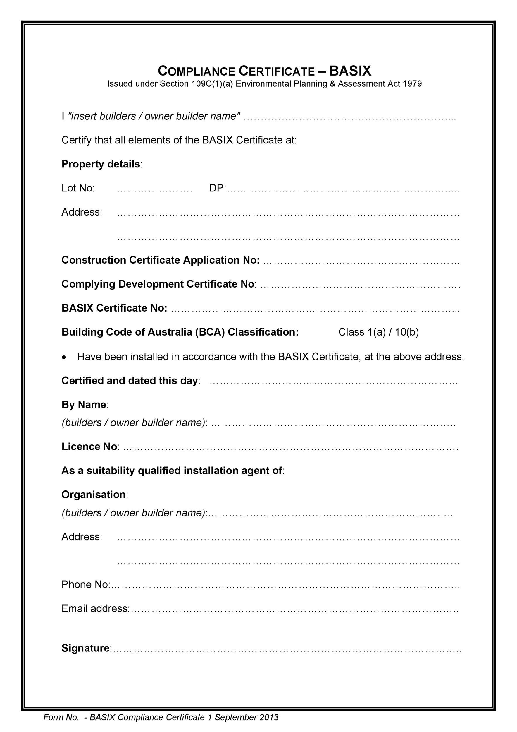 free certificate of conformance 14