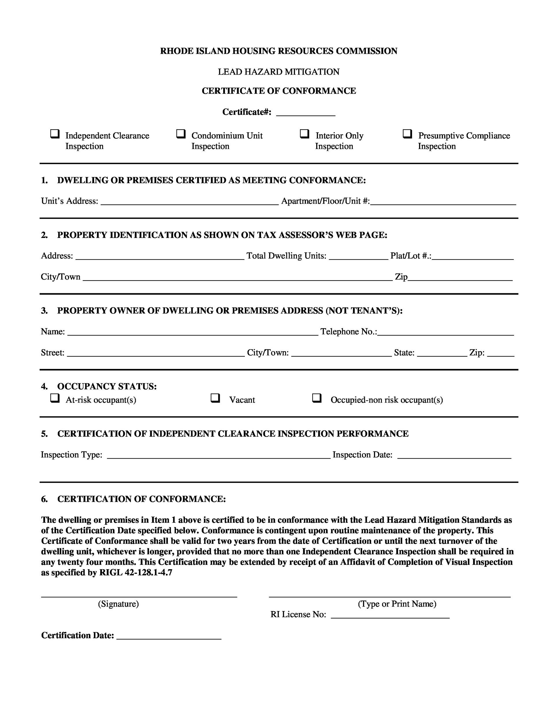 40 Free Certificate Of Conformance Templates Amp Forms