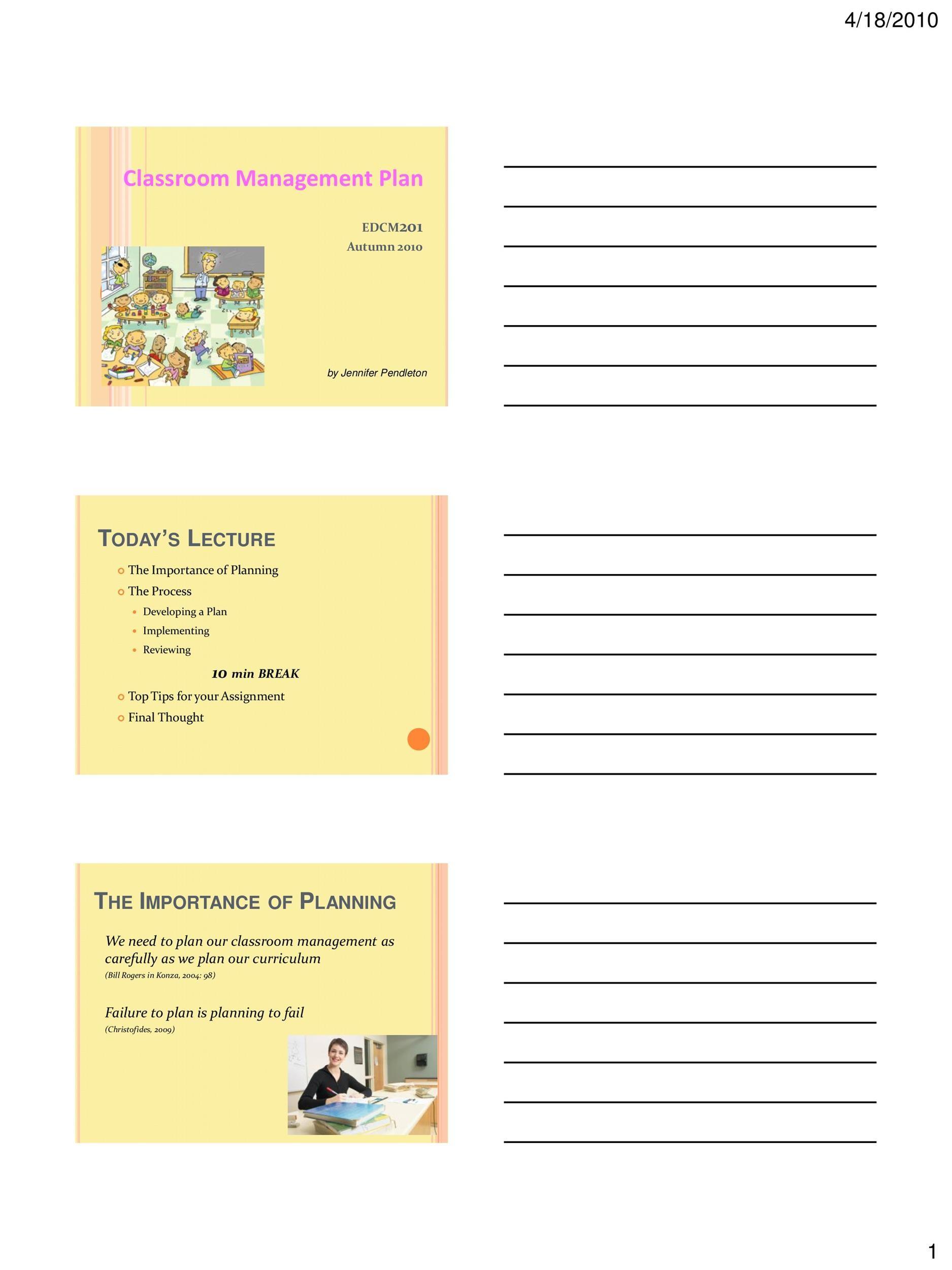 Free classroom management plan 03