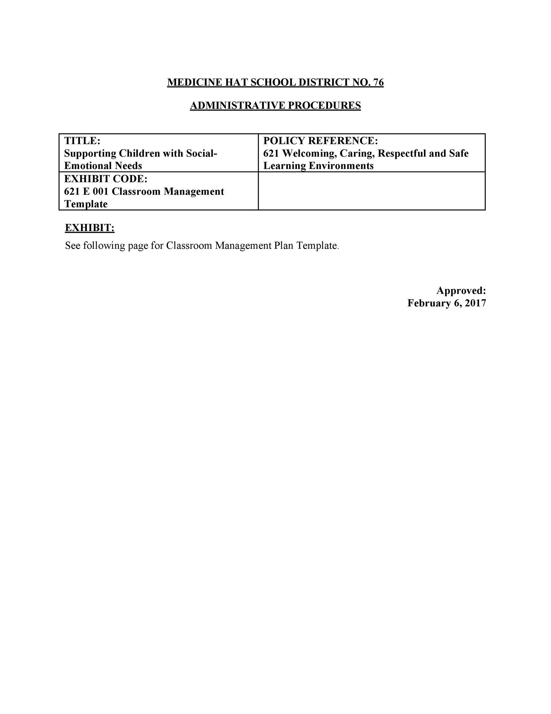 Free classroom management plan 11