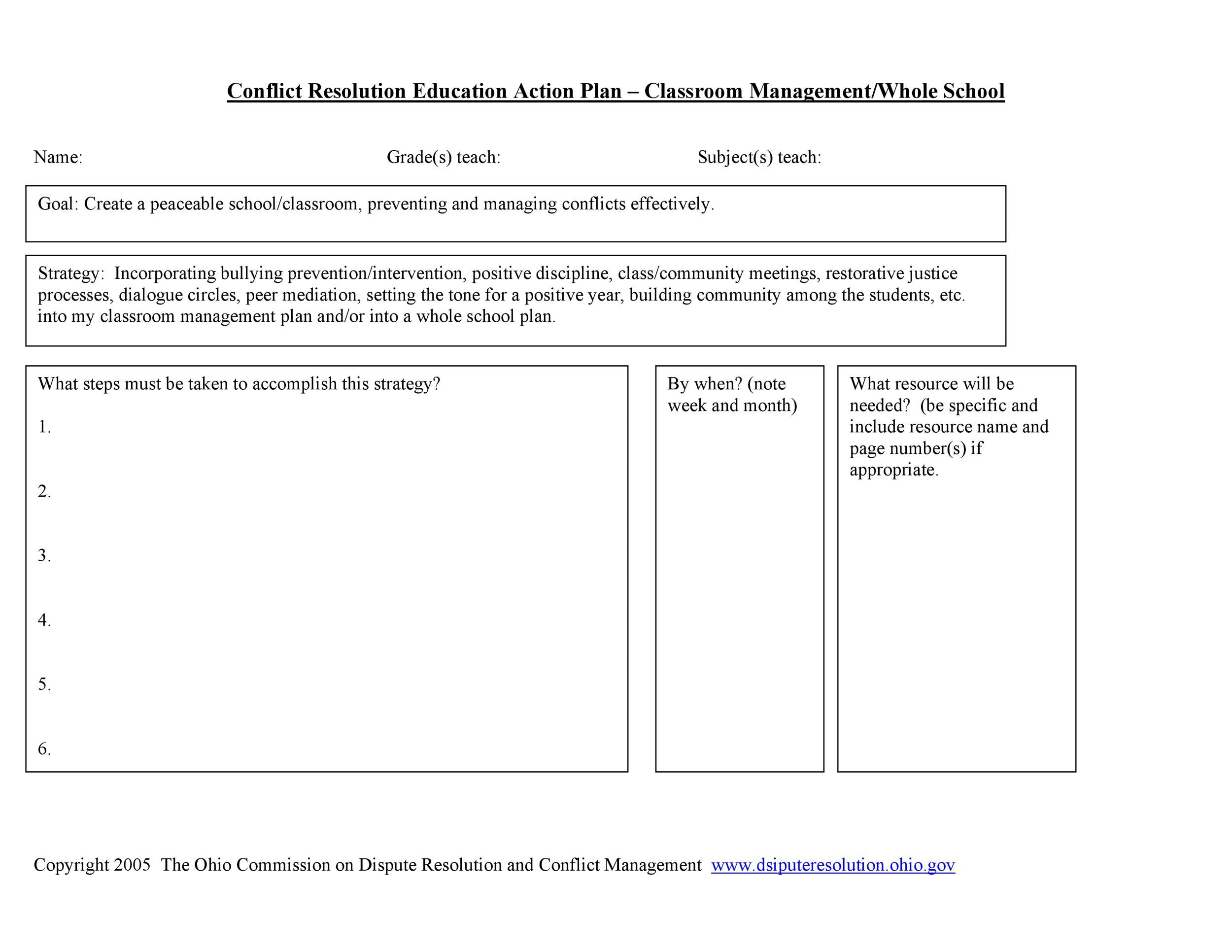 Free classroom management plan 12
