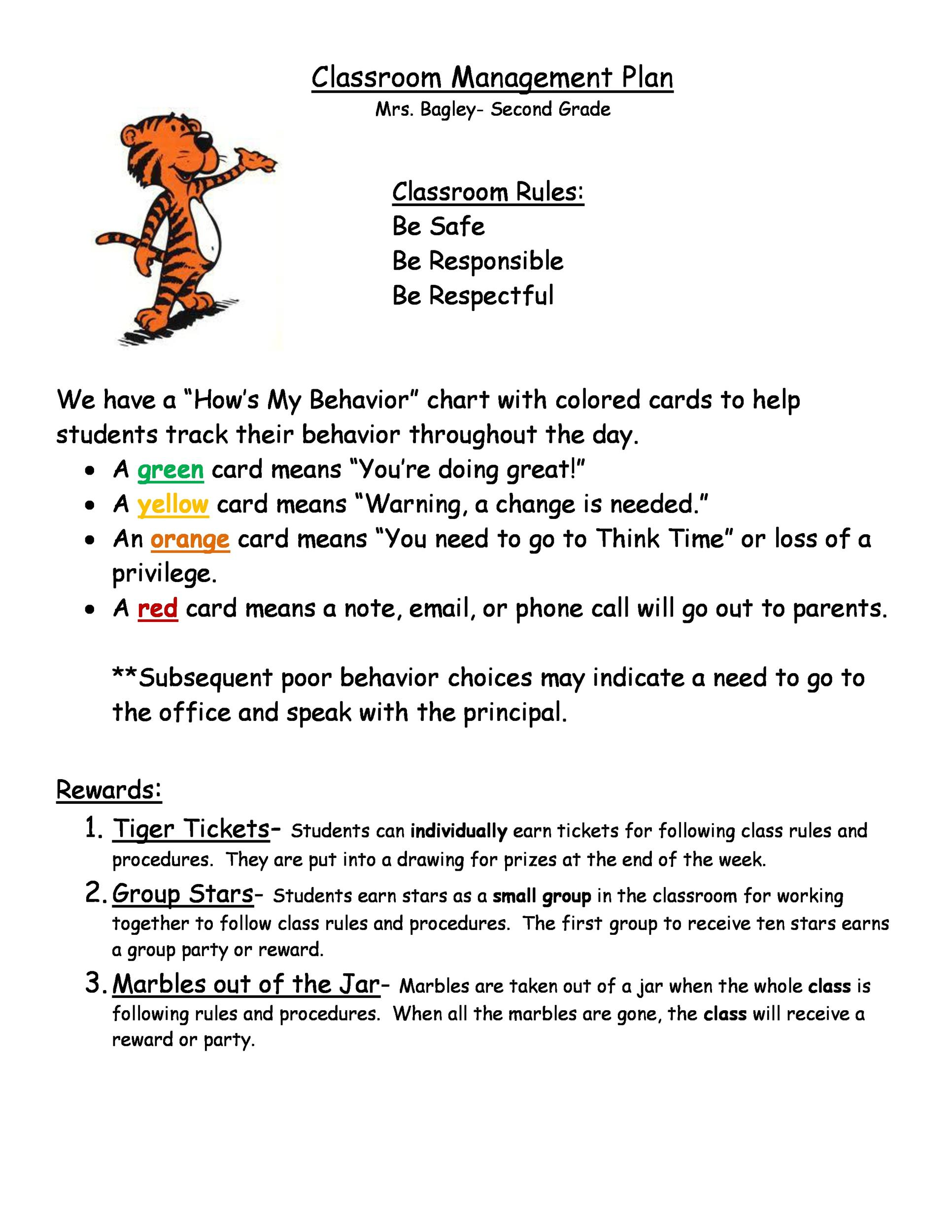 Free classroom management plan 21