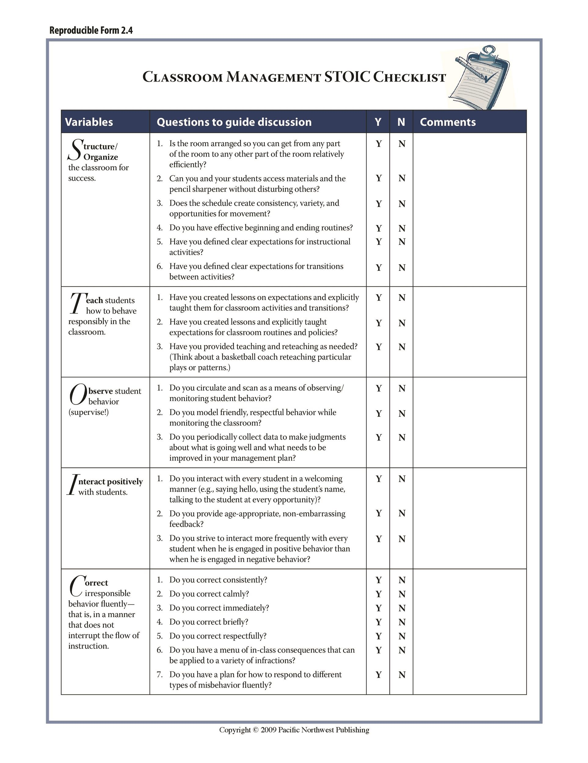 Free classroom management plan 31