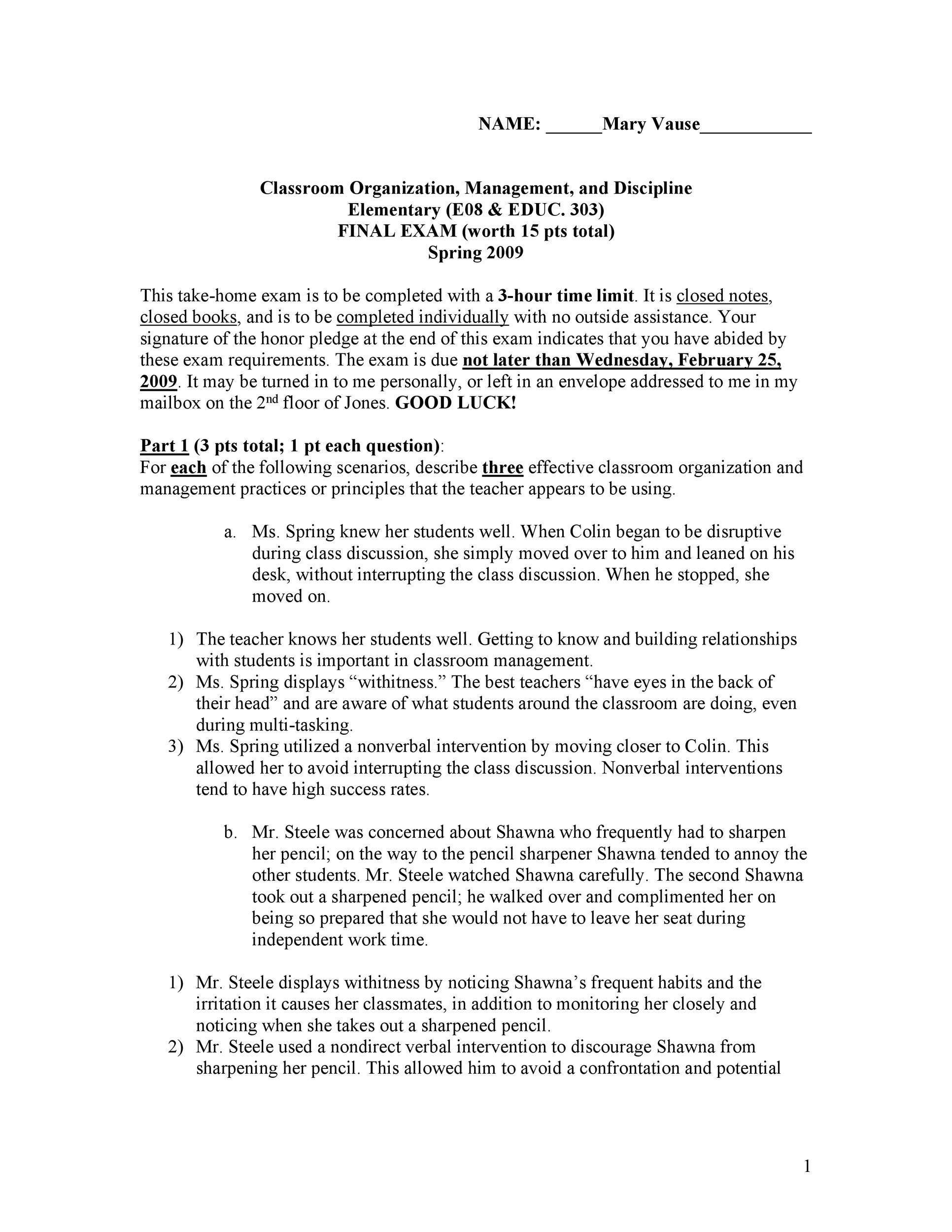 Free classroom management plan 32