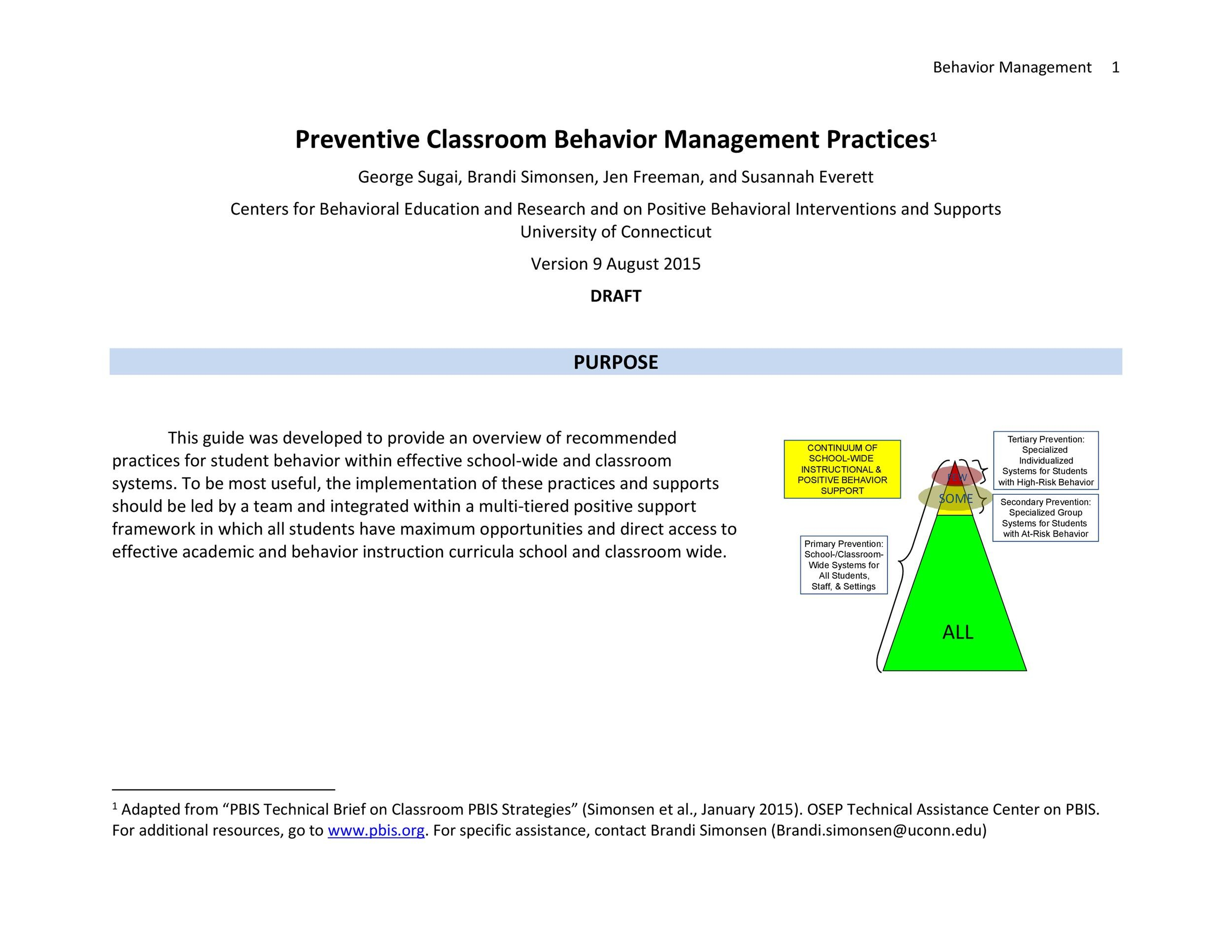 Classroom Management Plan   Templates  Examples  Template Lab