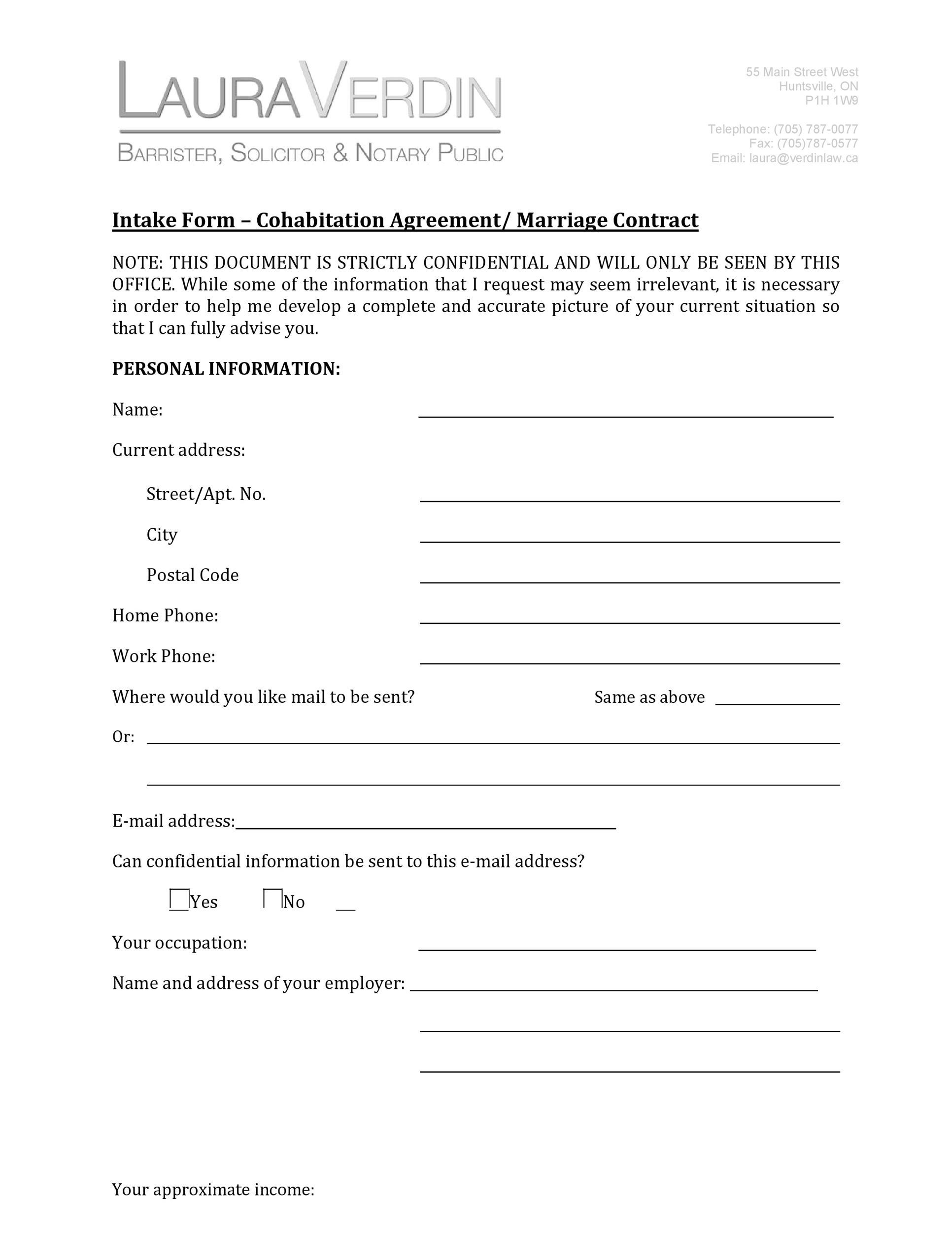 Free cohabitation agreement template 30