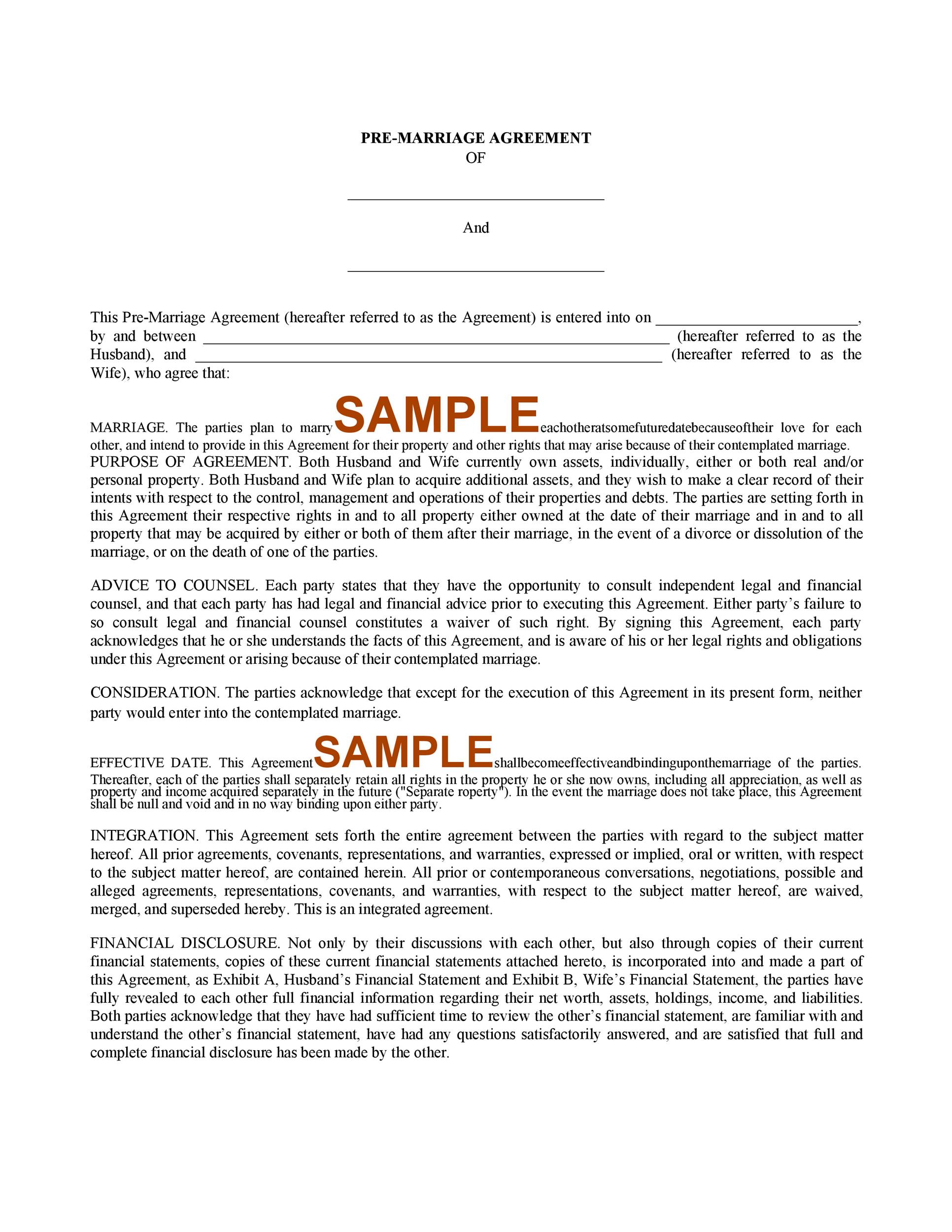 Free cohabitation agreement template 34
