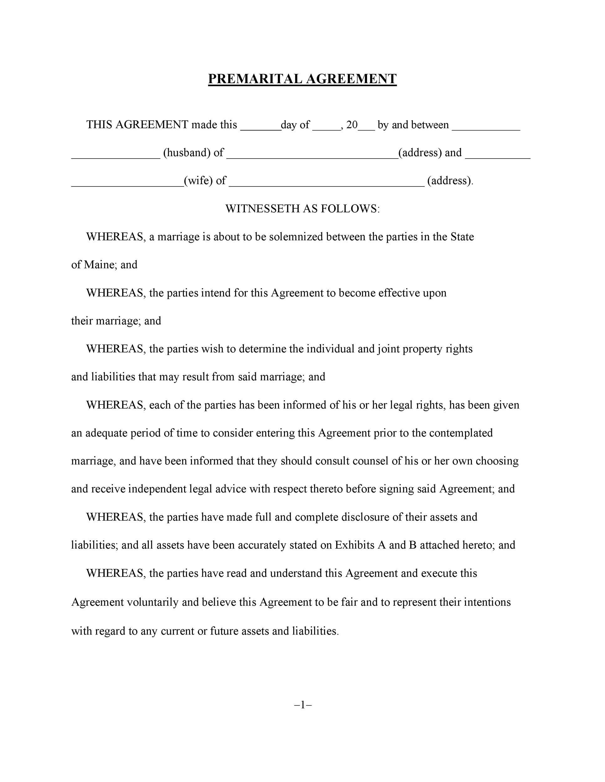 Free cohabitation agreement template 35