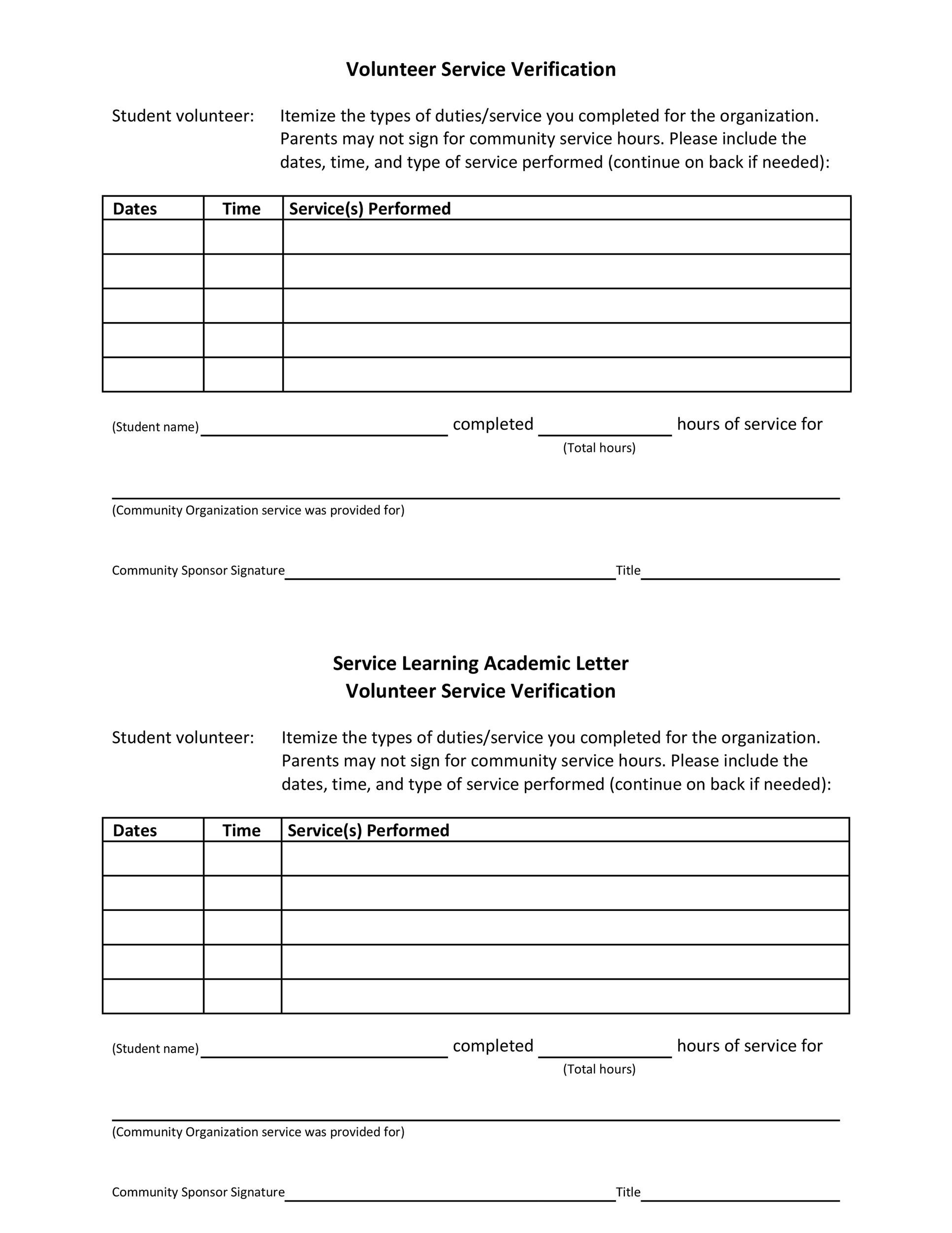 community service completion letter example community service letter 40 templates completion 22171 | community service letter template 03