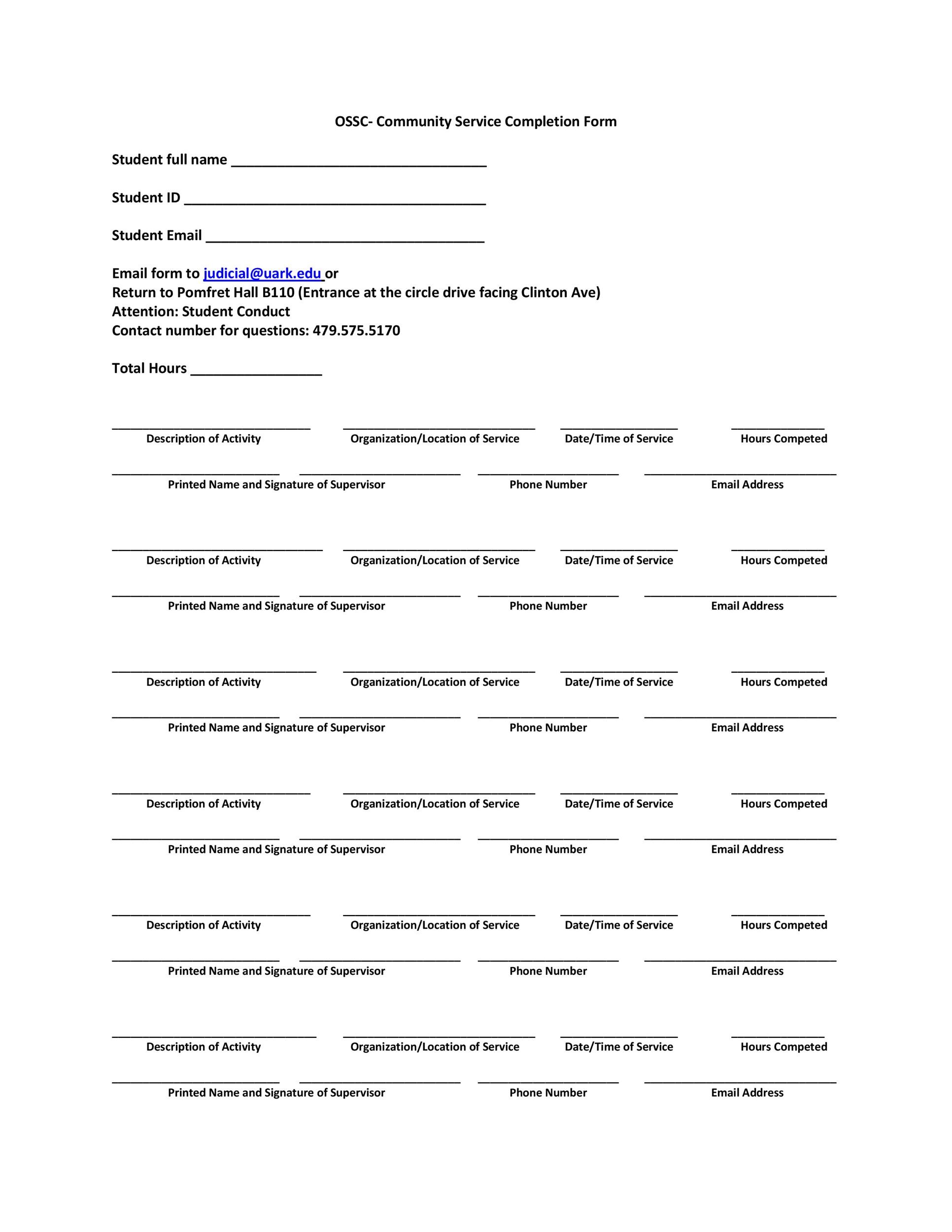 community service letter template 21 Template Lab – Community Service Letter