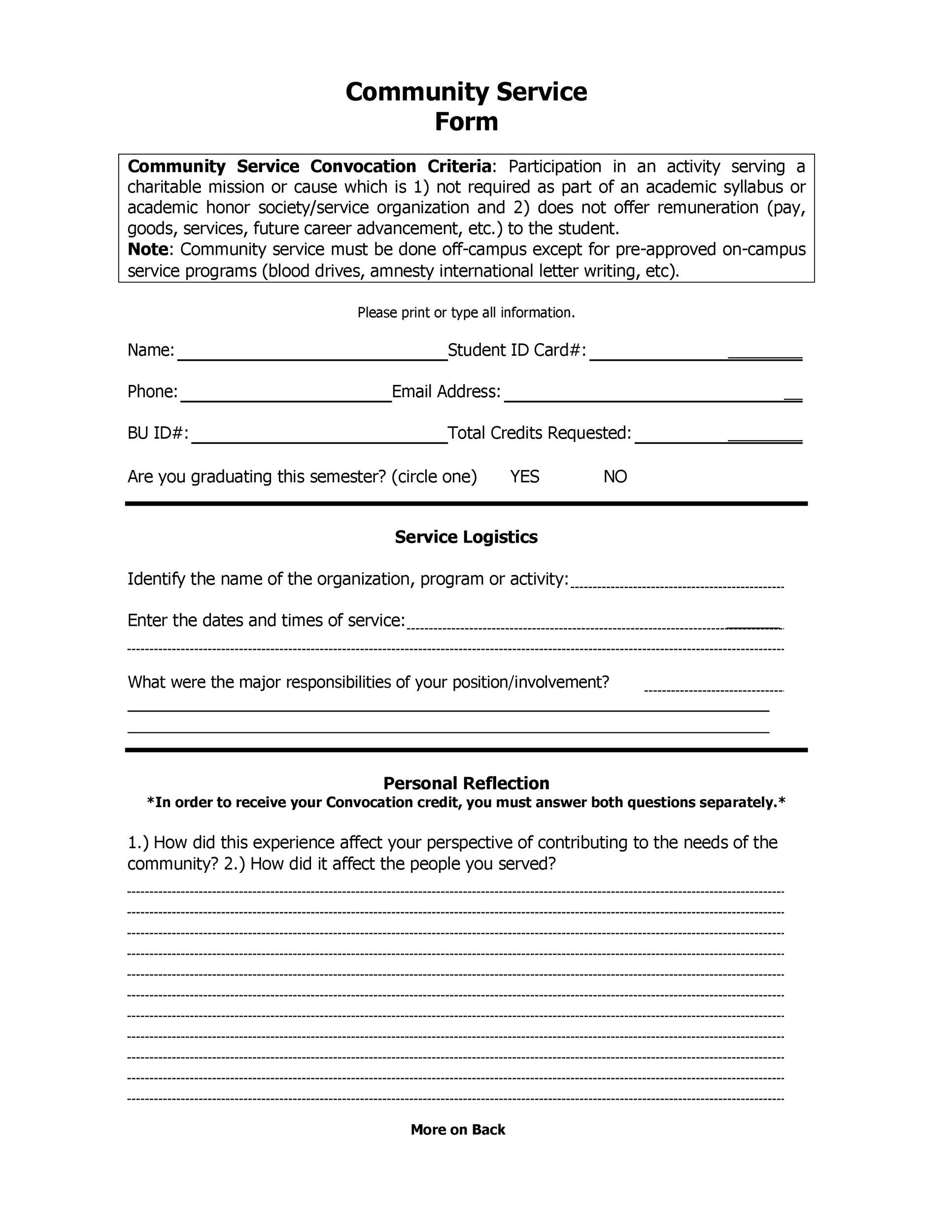 Community Service Letter 40 Templates Completion Verification – Goods Collection Note Template