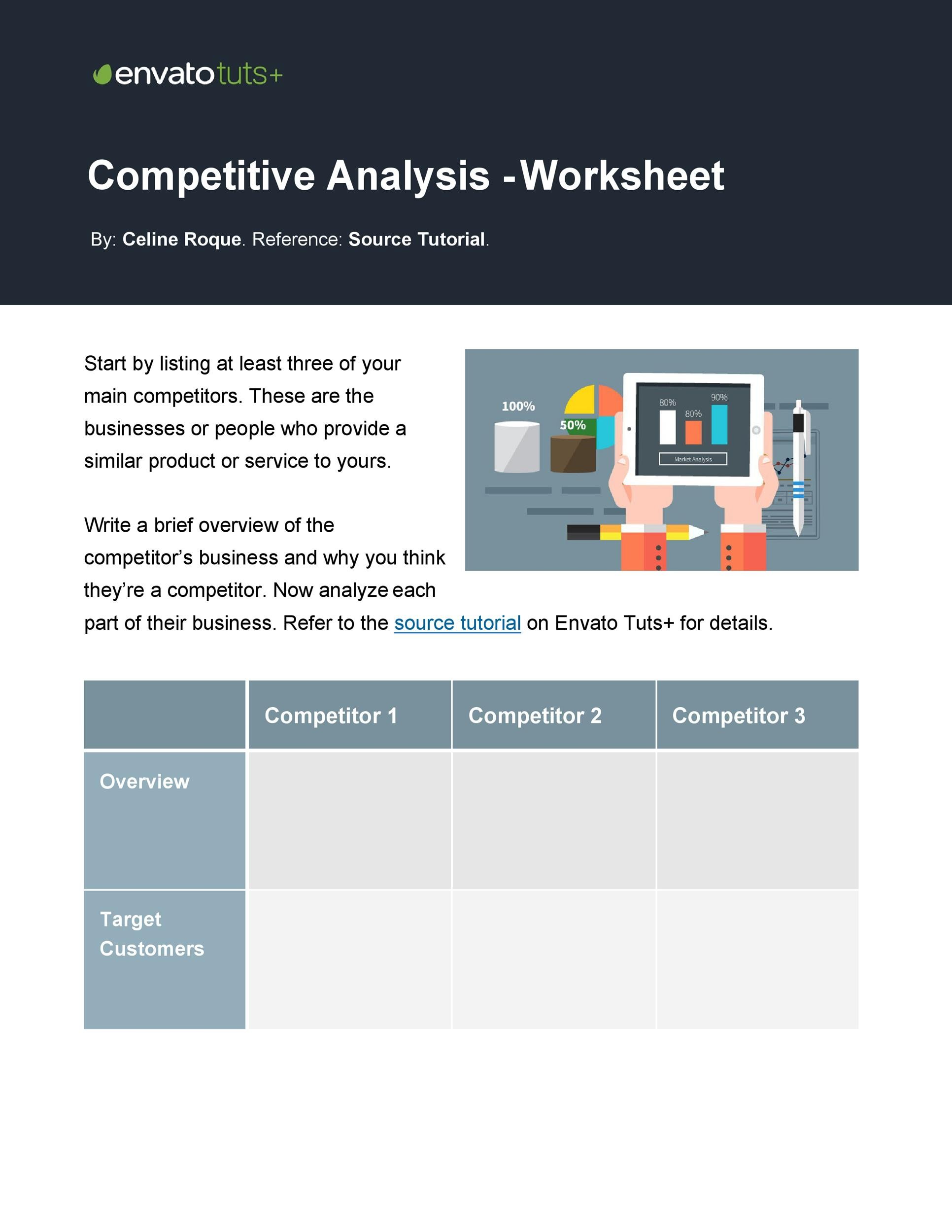 Free competitive analysis template 09