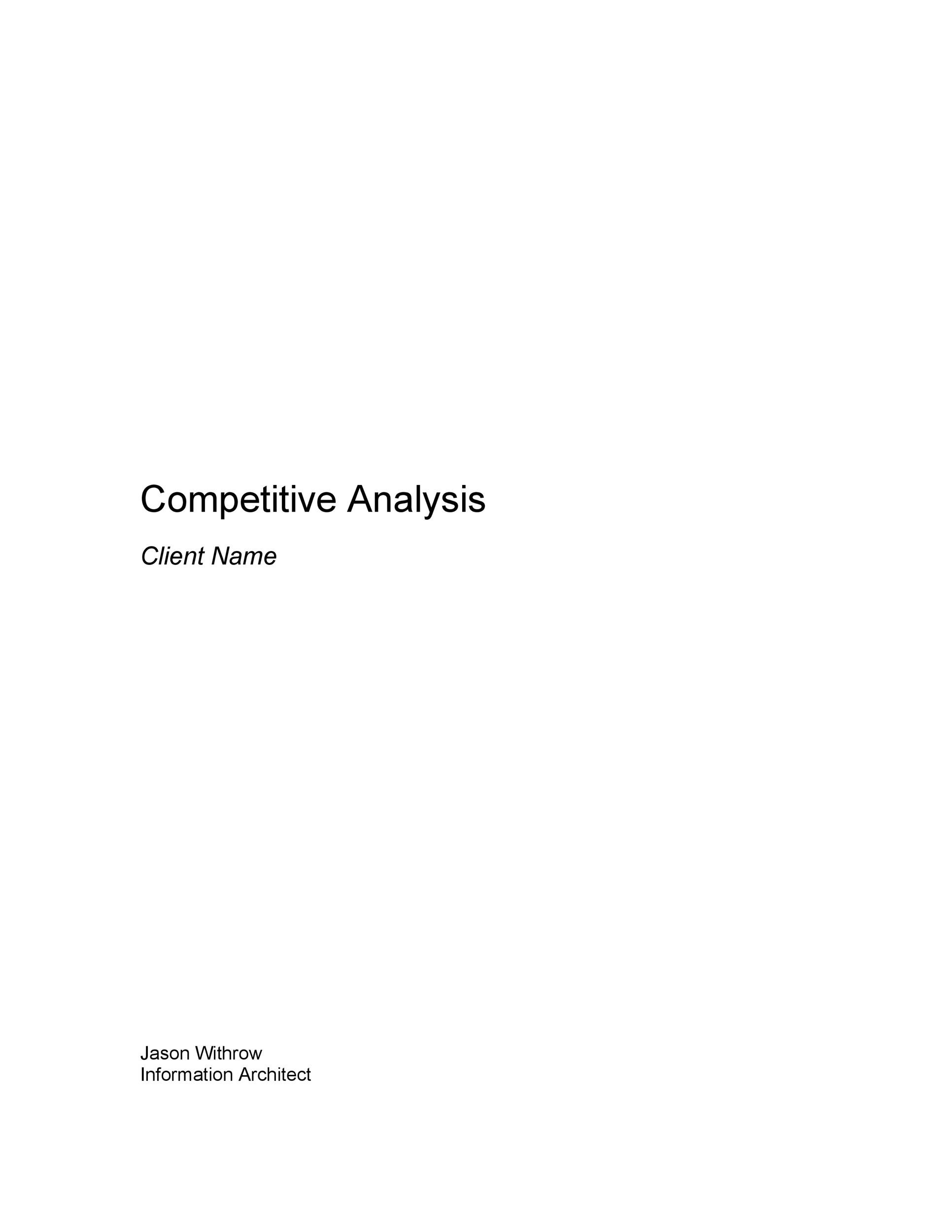 Free competitive analysis template 10