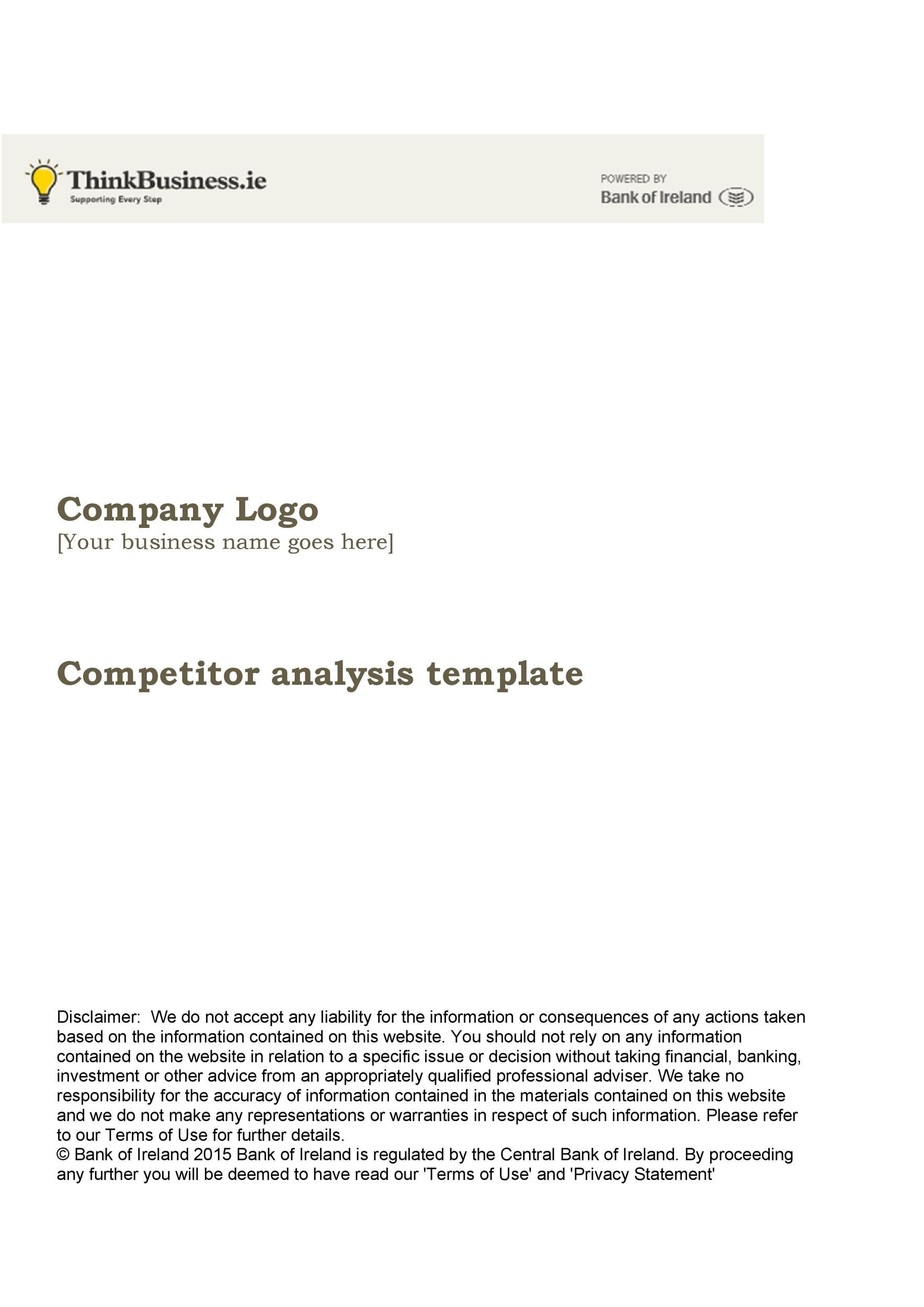 Free competitive analysis template 11