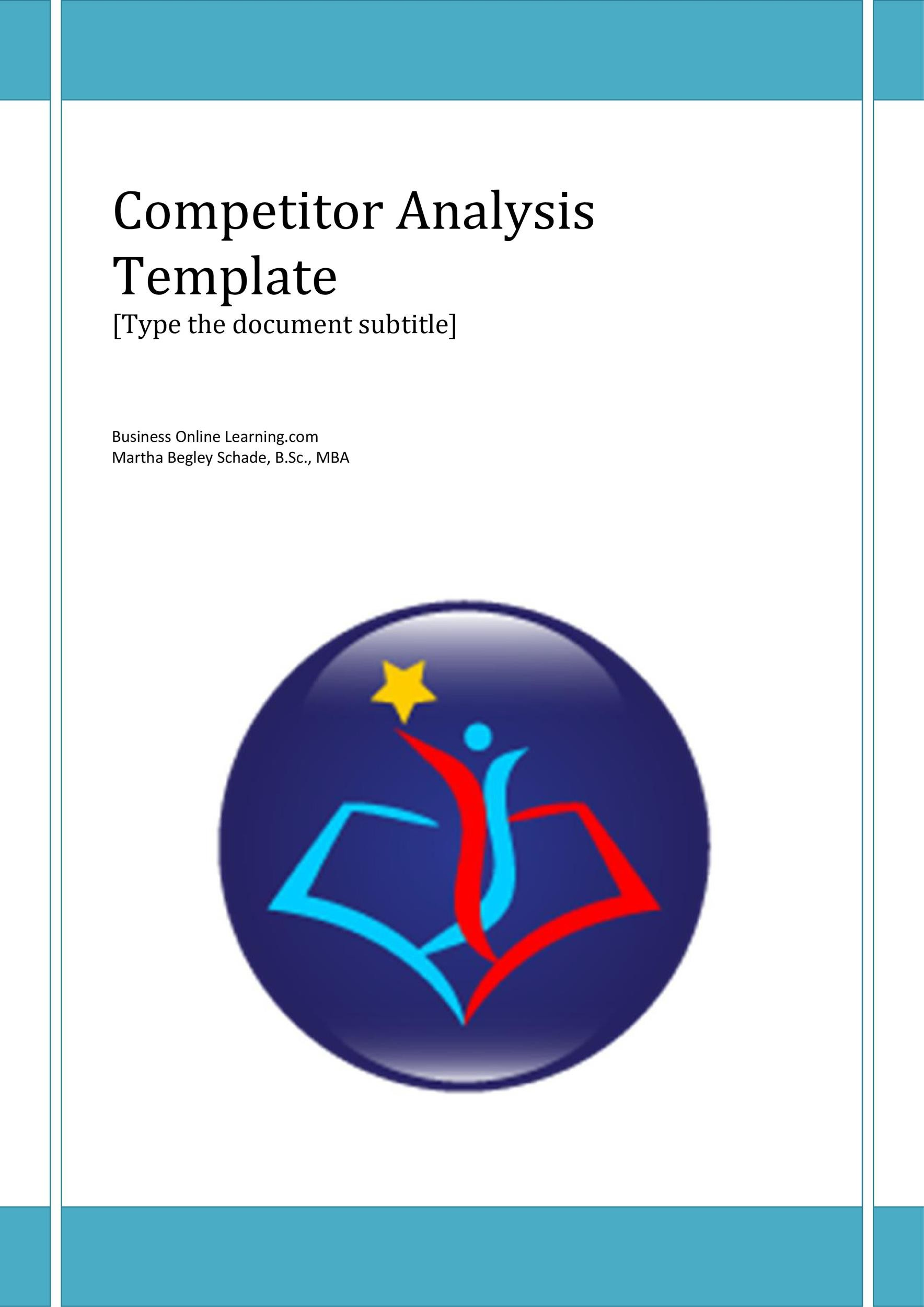 Free competitive analysis template 37