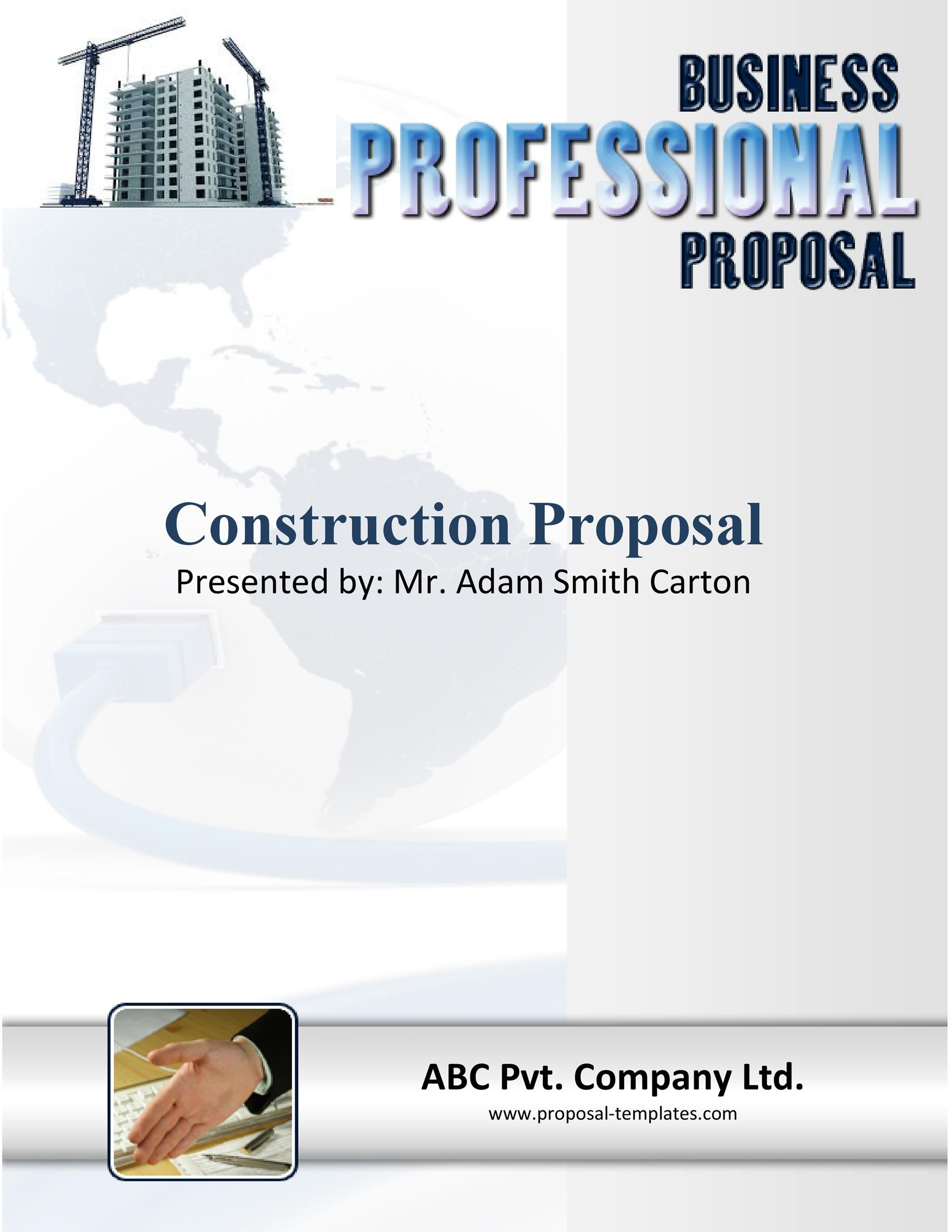 Free construction proposal template 09
