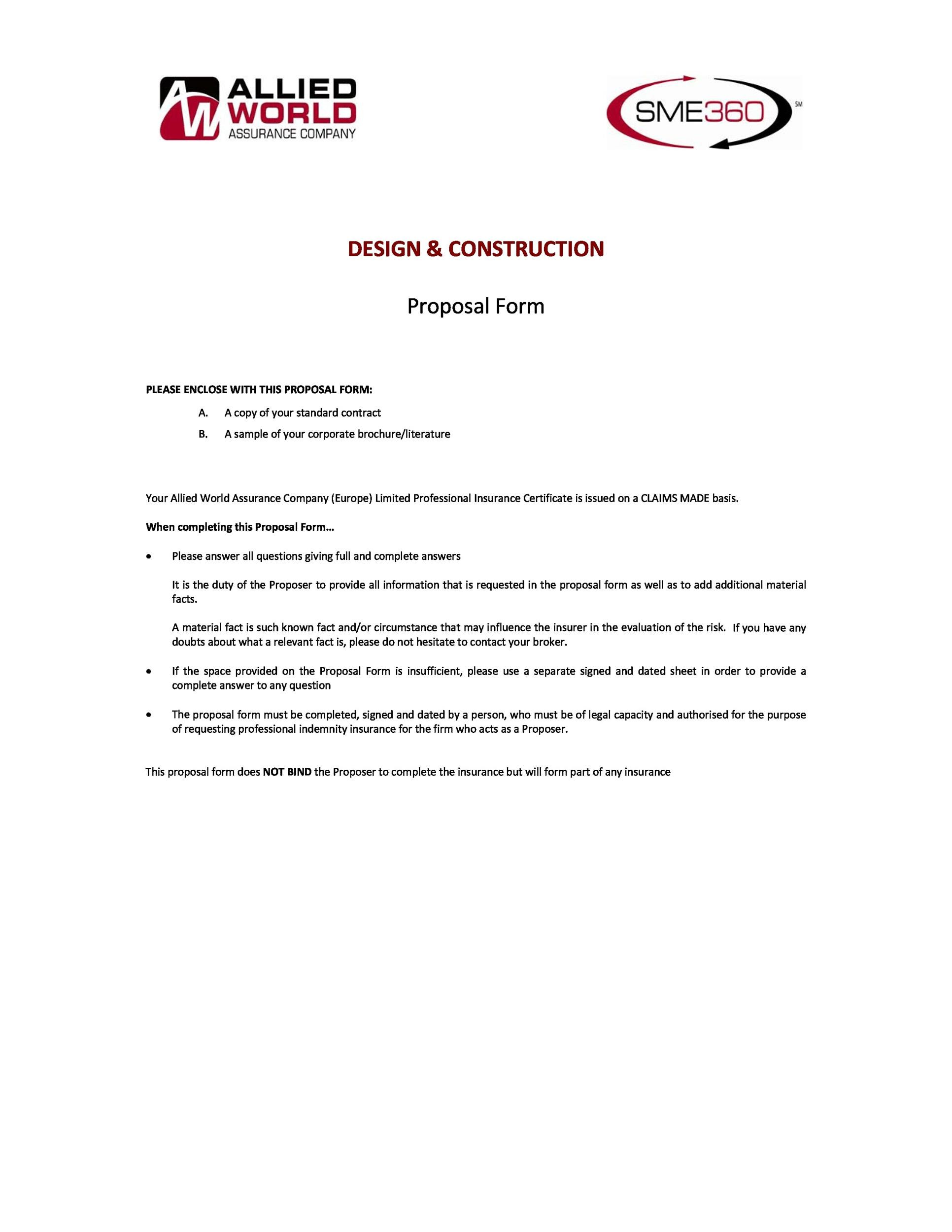 Free construction proposal template 23