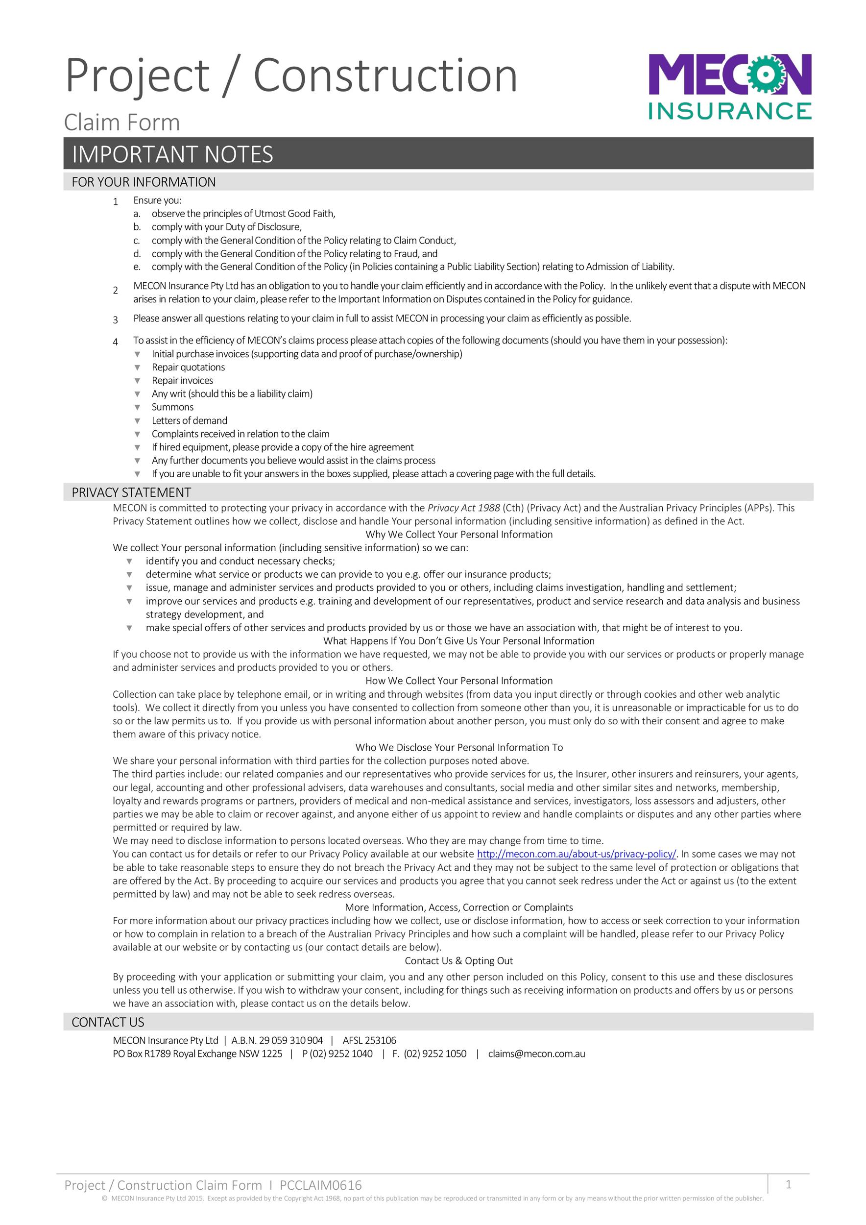 Free construction proposal template 27