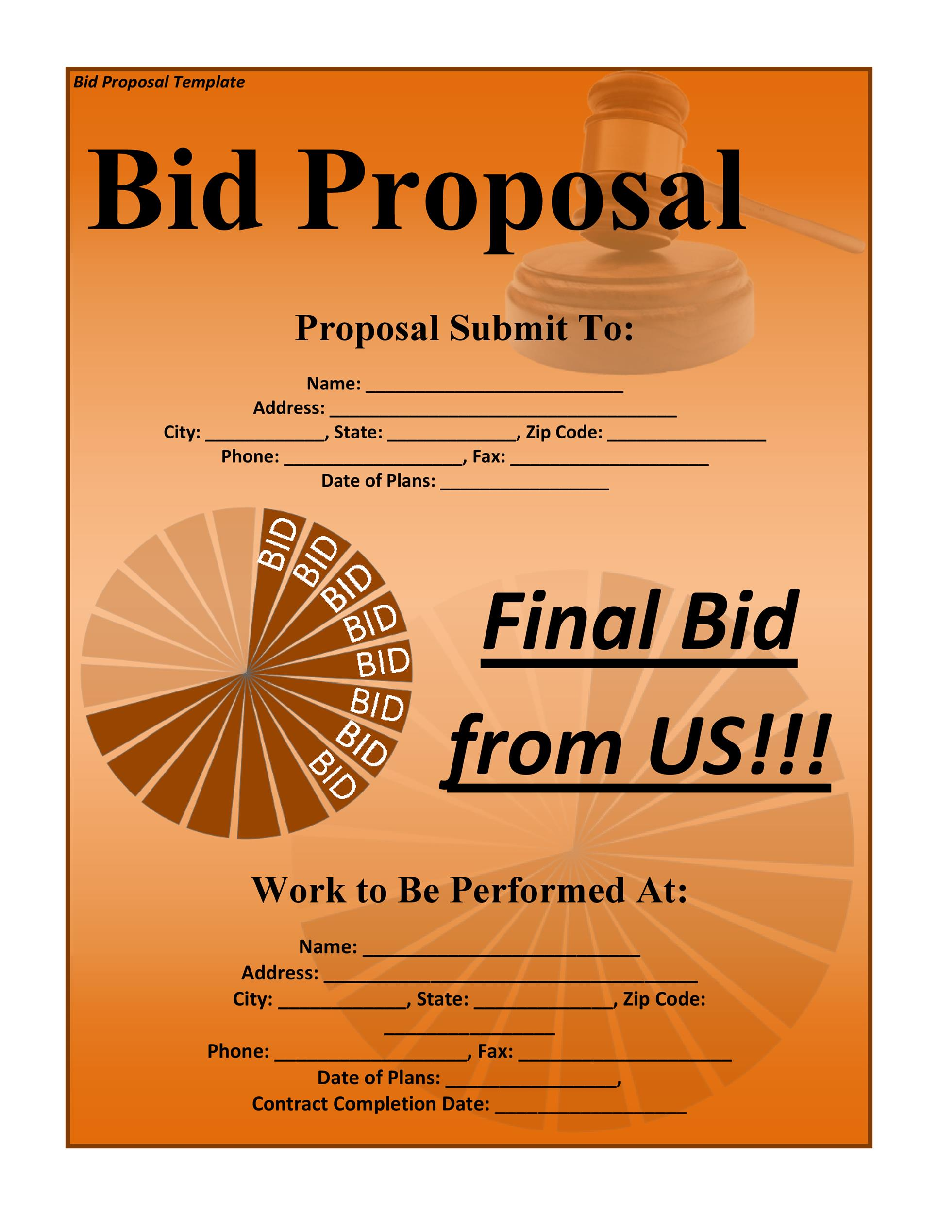 how to write a tender proposal