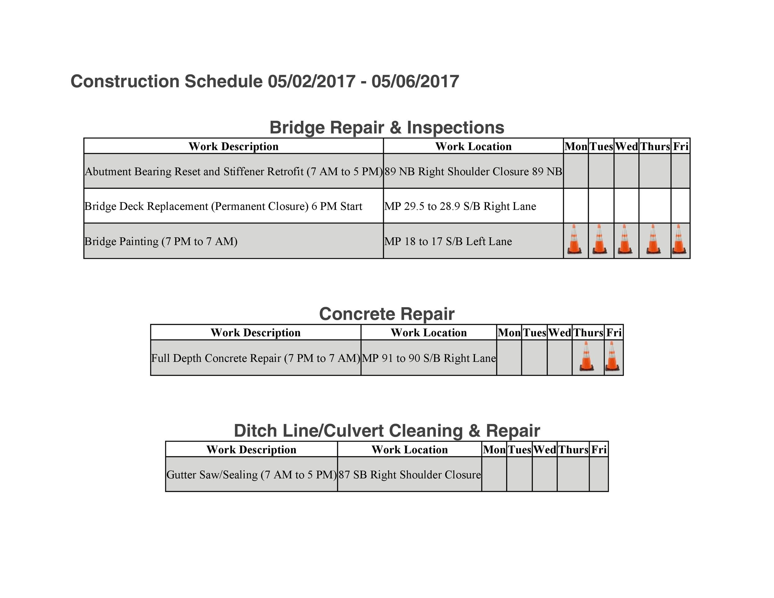 Free construction schedule template 06