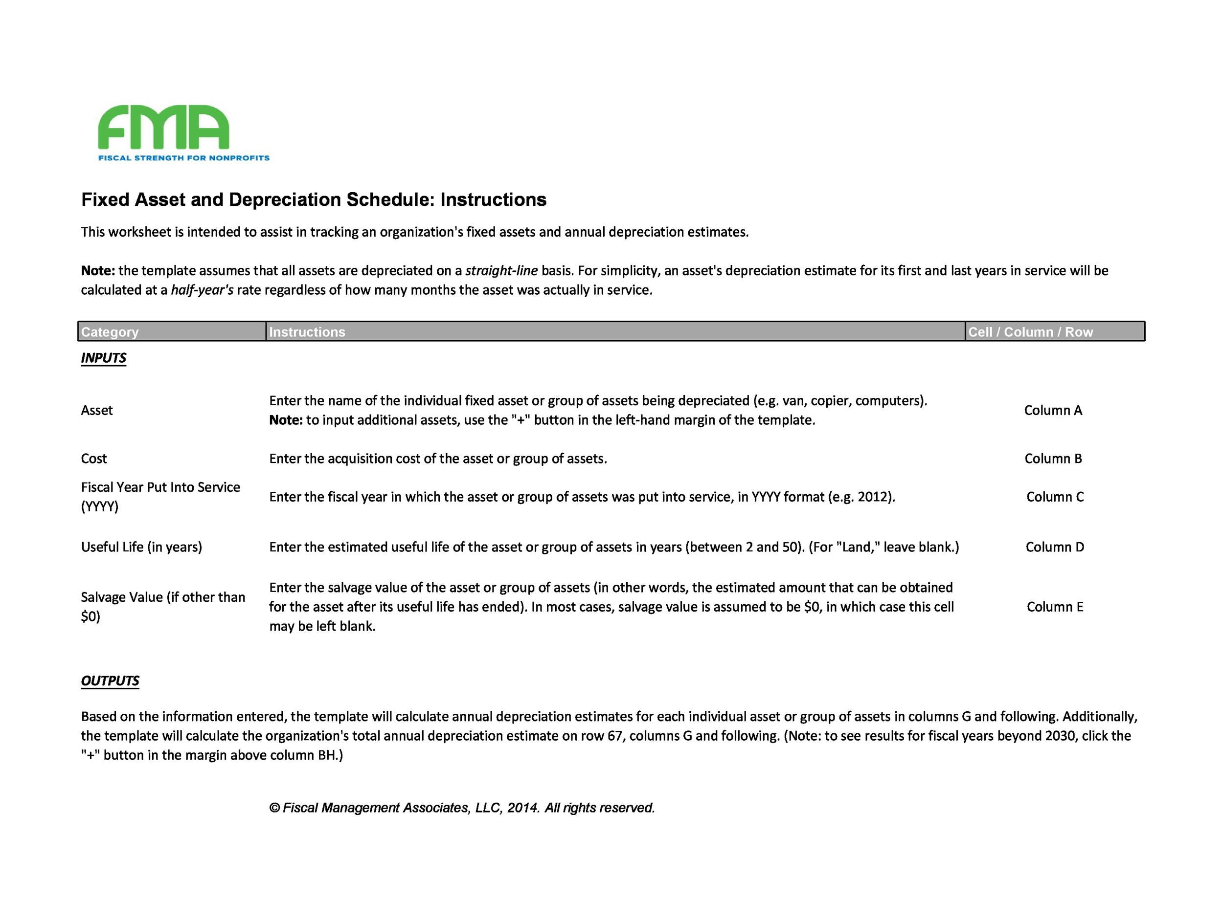Free depreciation schedule template 02