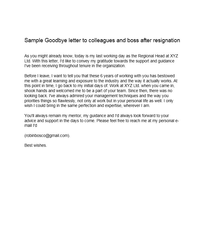 goodbye letter to boss lovely goodbye letter to cover letter examples 45830