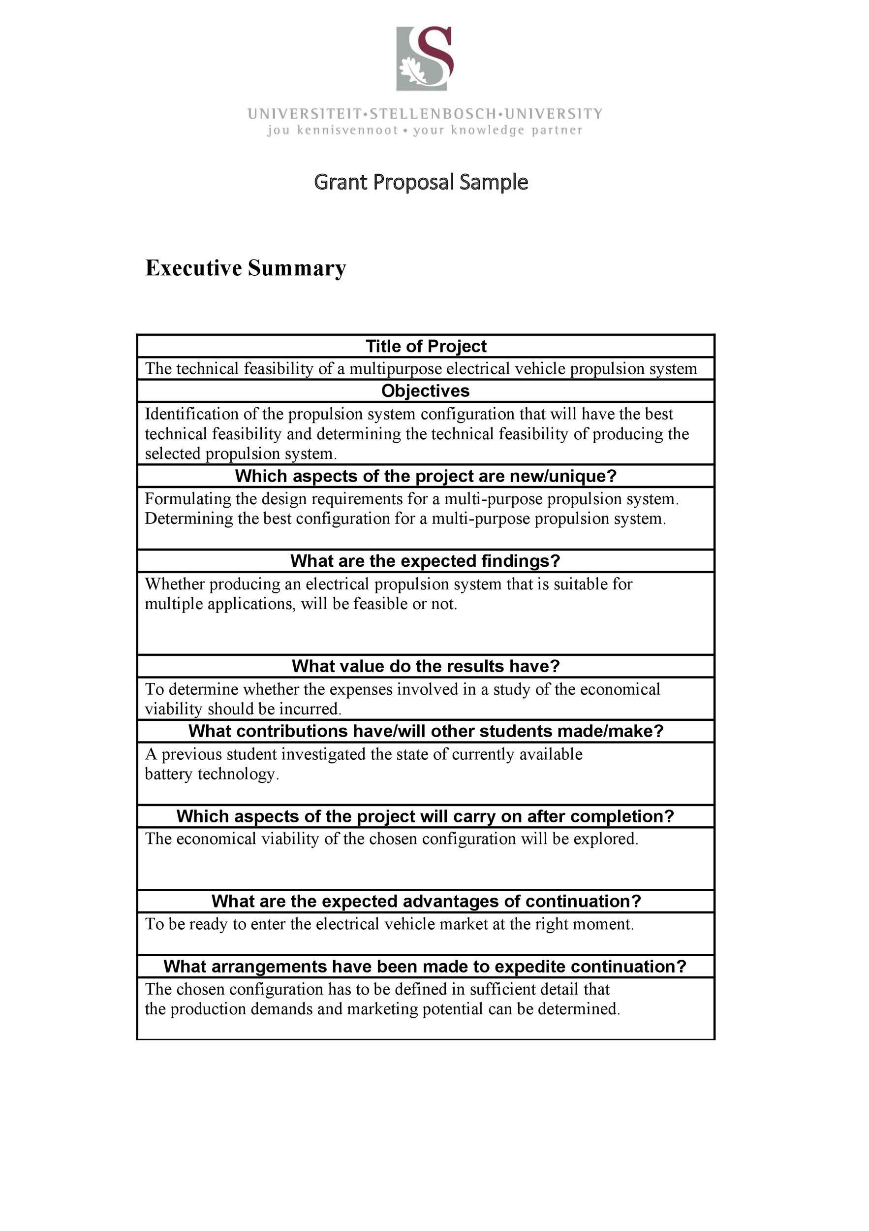 Free grant proposal template  05