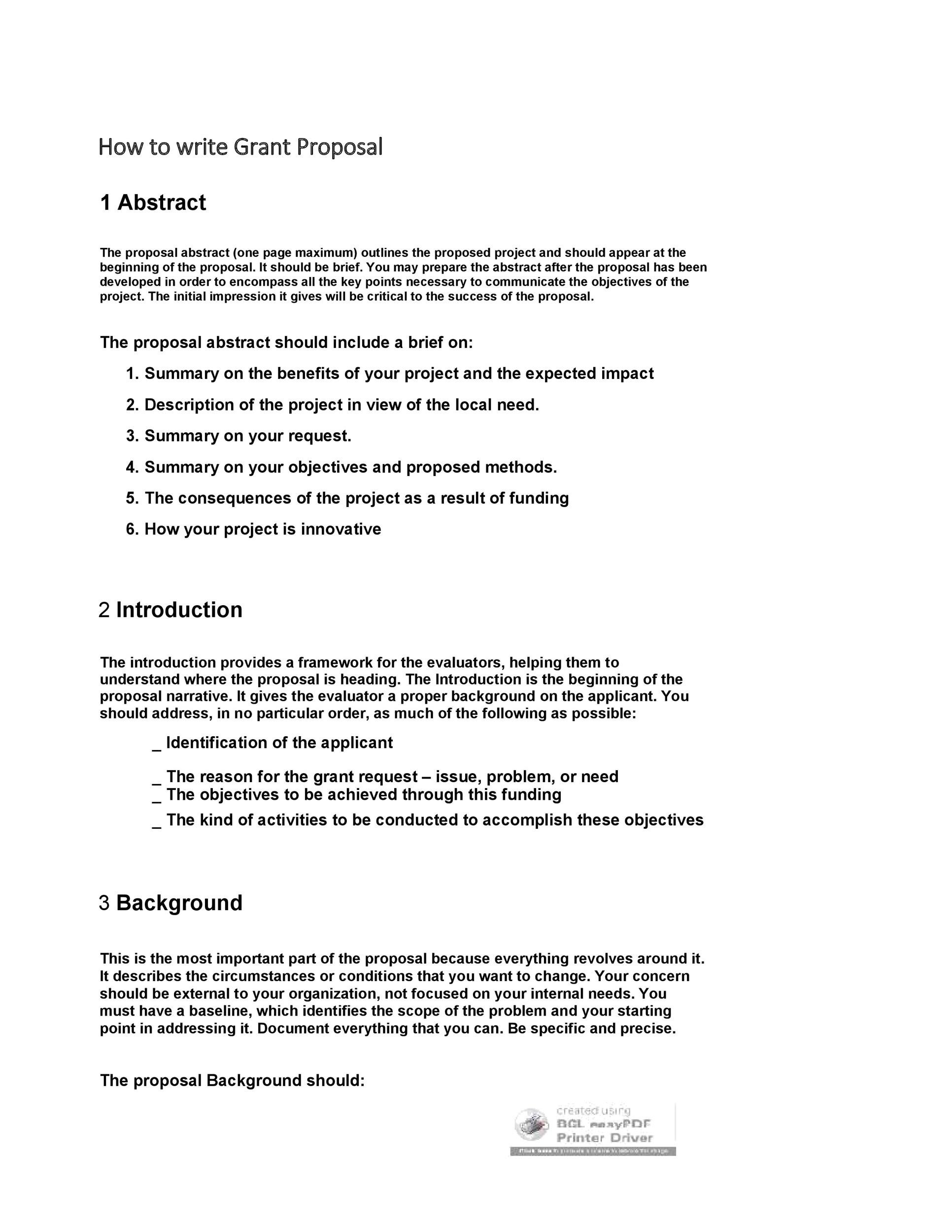 Free grant proposal template  06