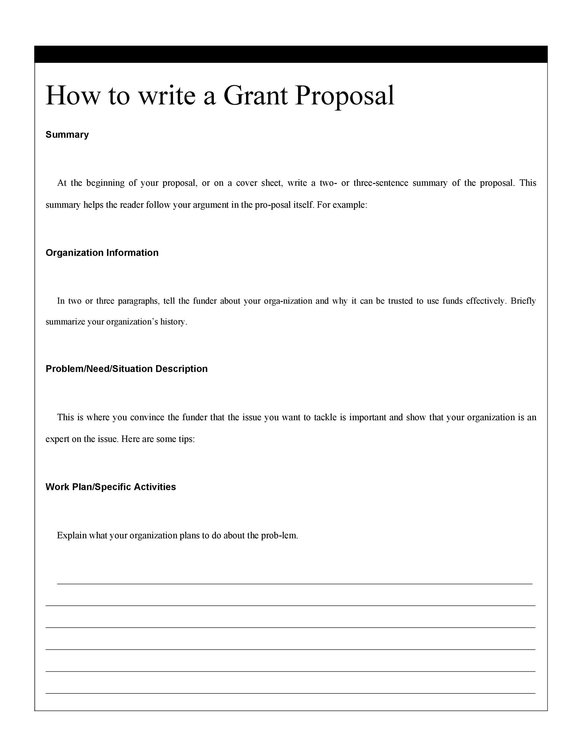 Buy grant proposal ideas
