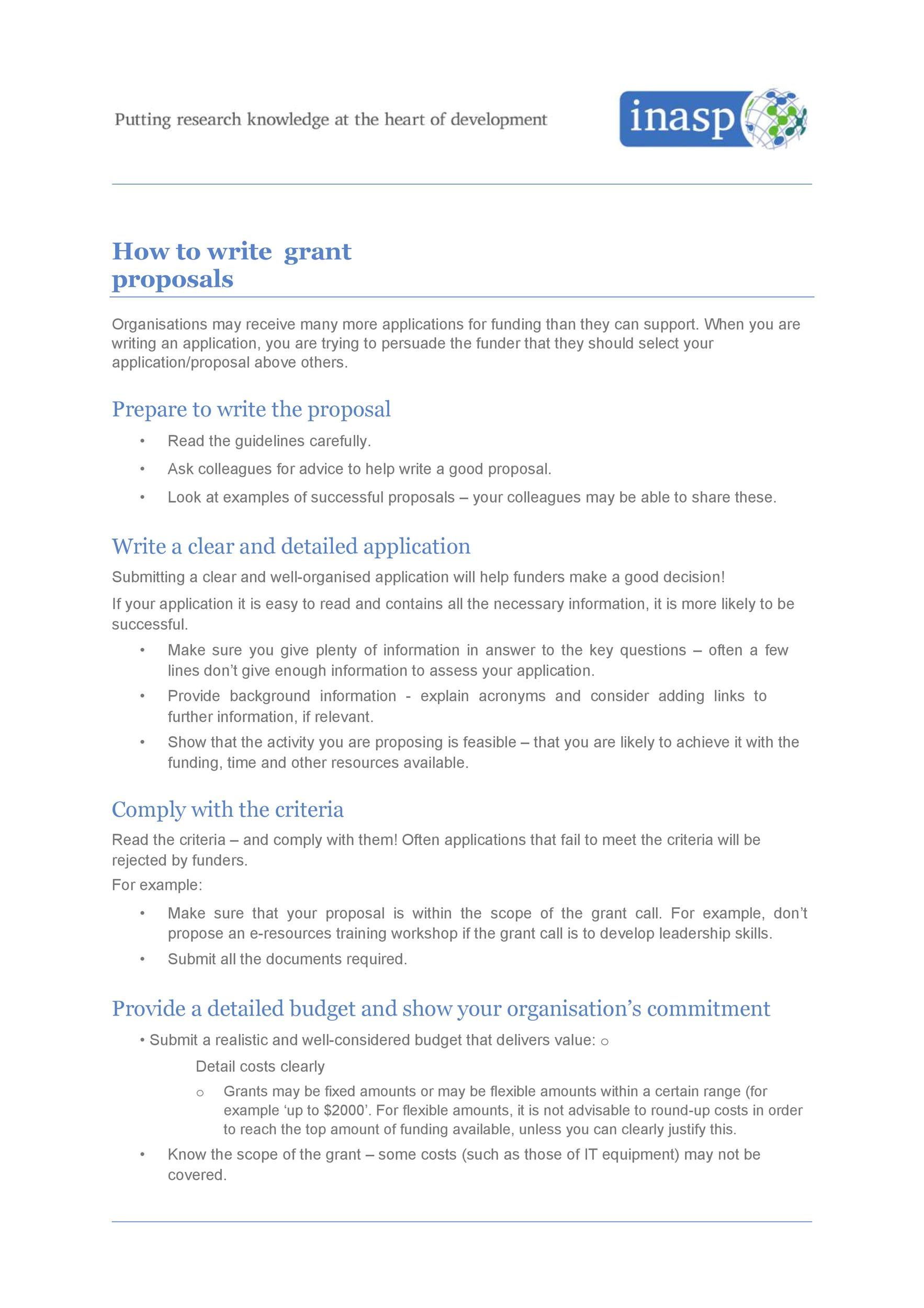 Free grant proposal template  19