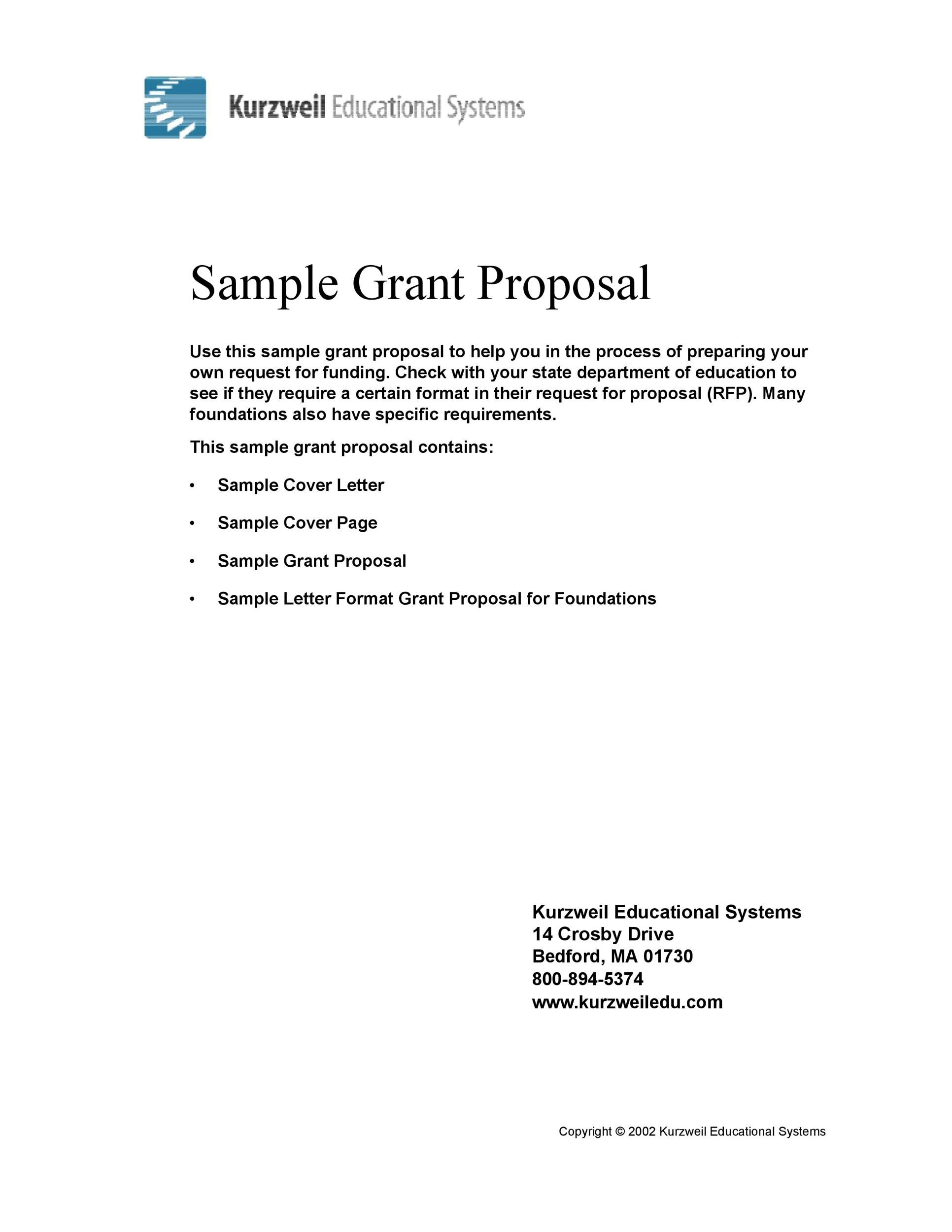 Free grant proposal template  20