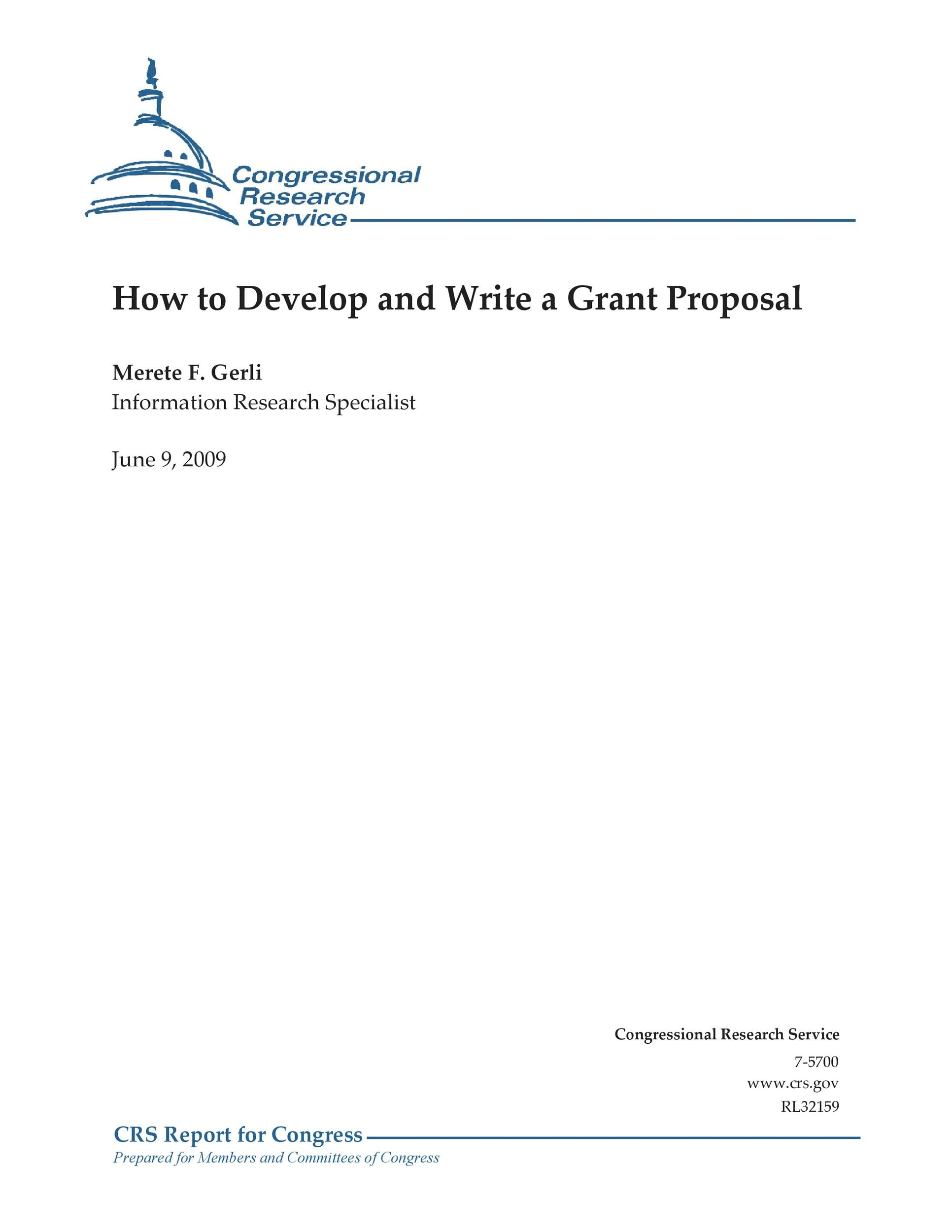 Free grant proposal template  24