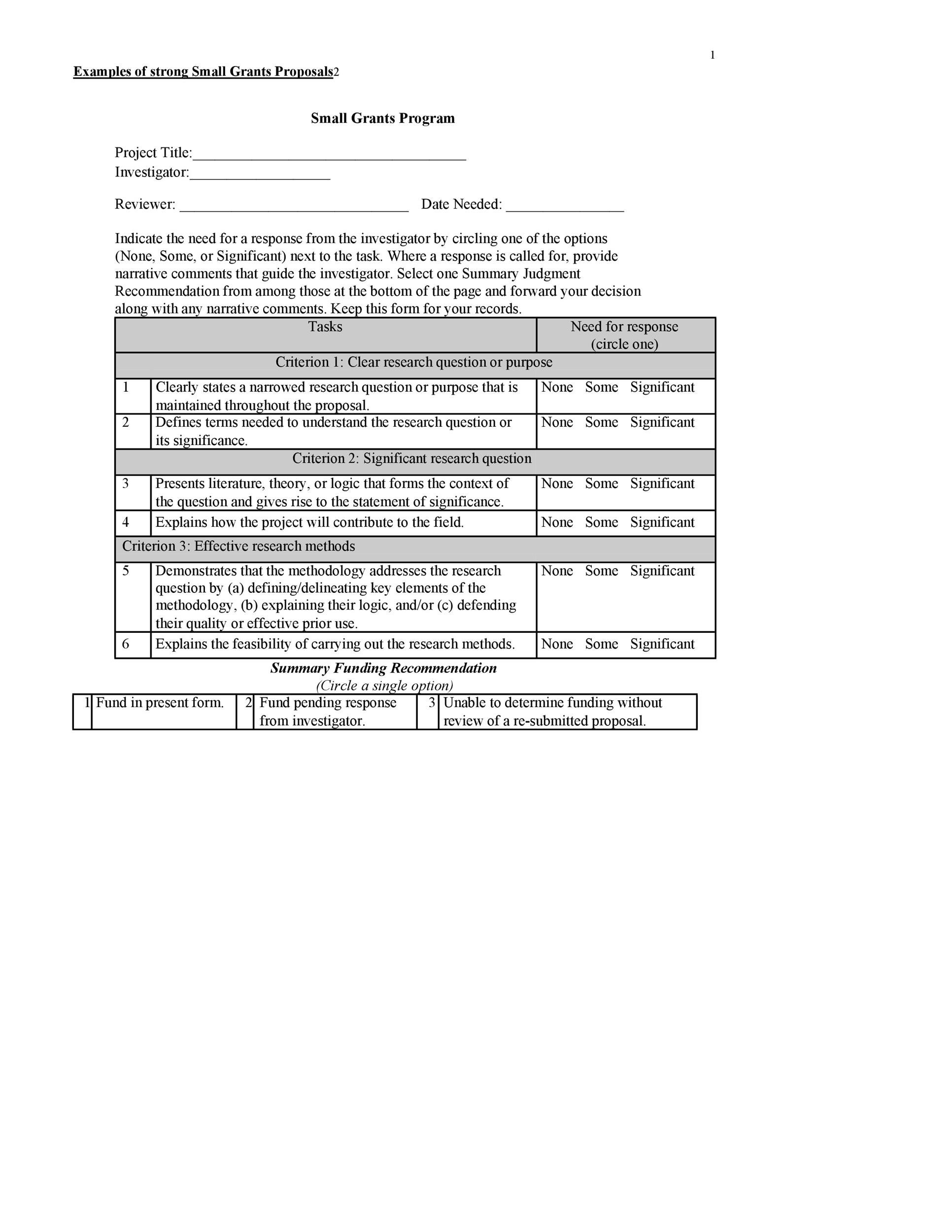 Free grant proposal template  26