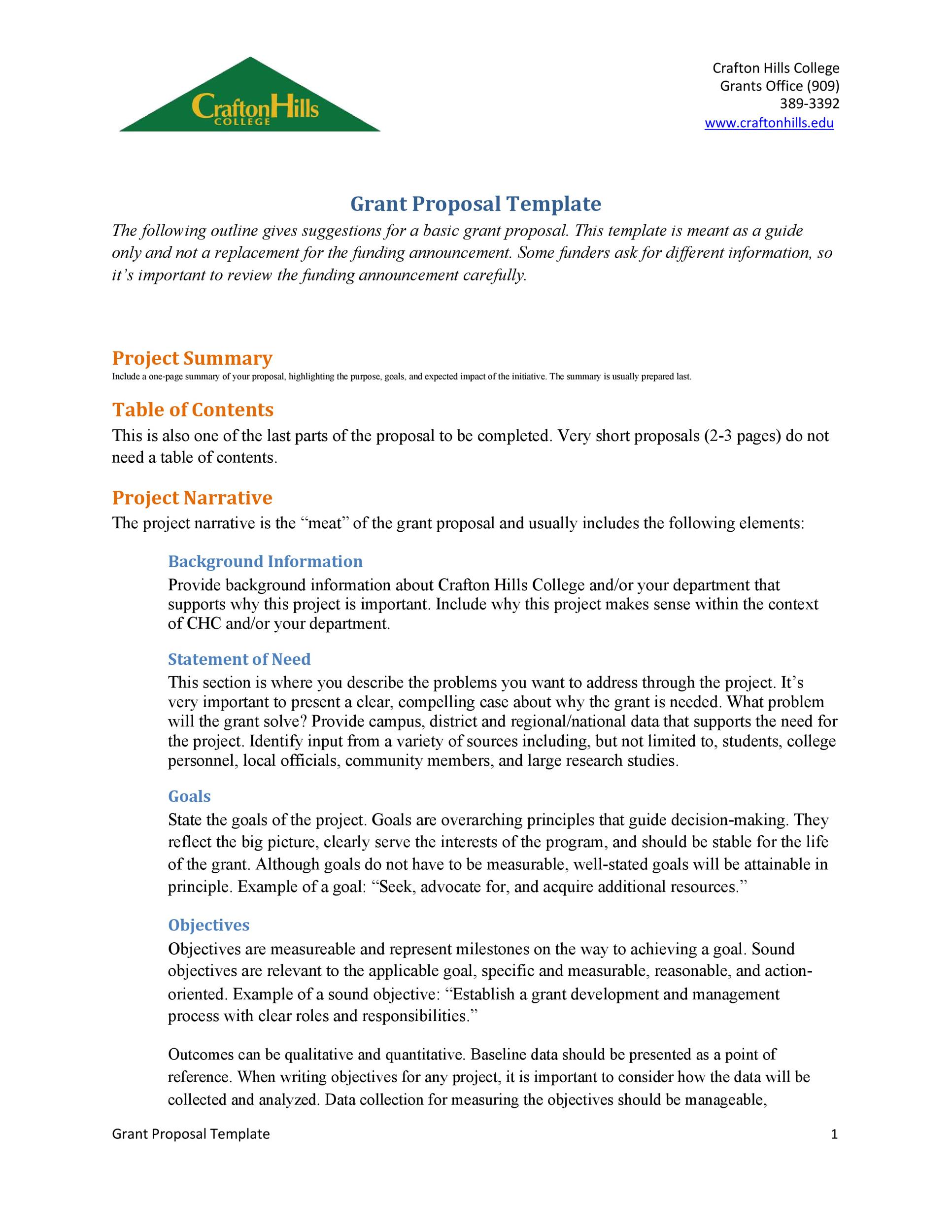 Free grant proposal template  27