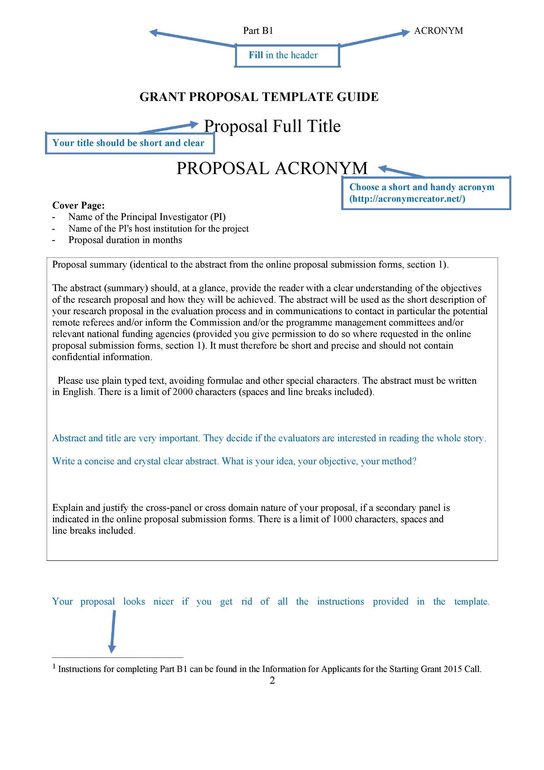 Free grant proposal template  28
