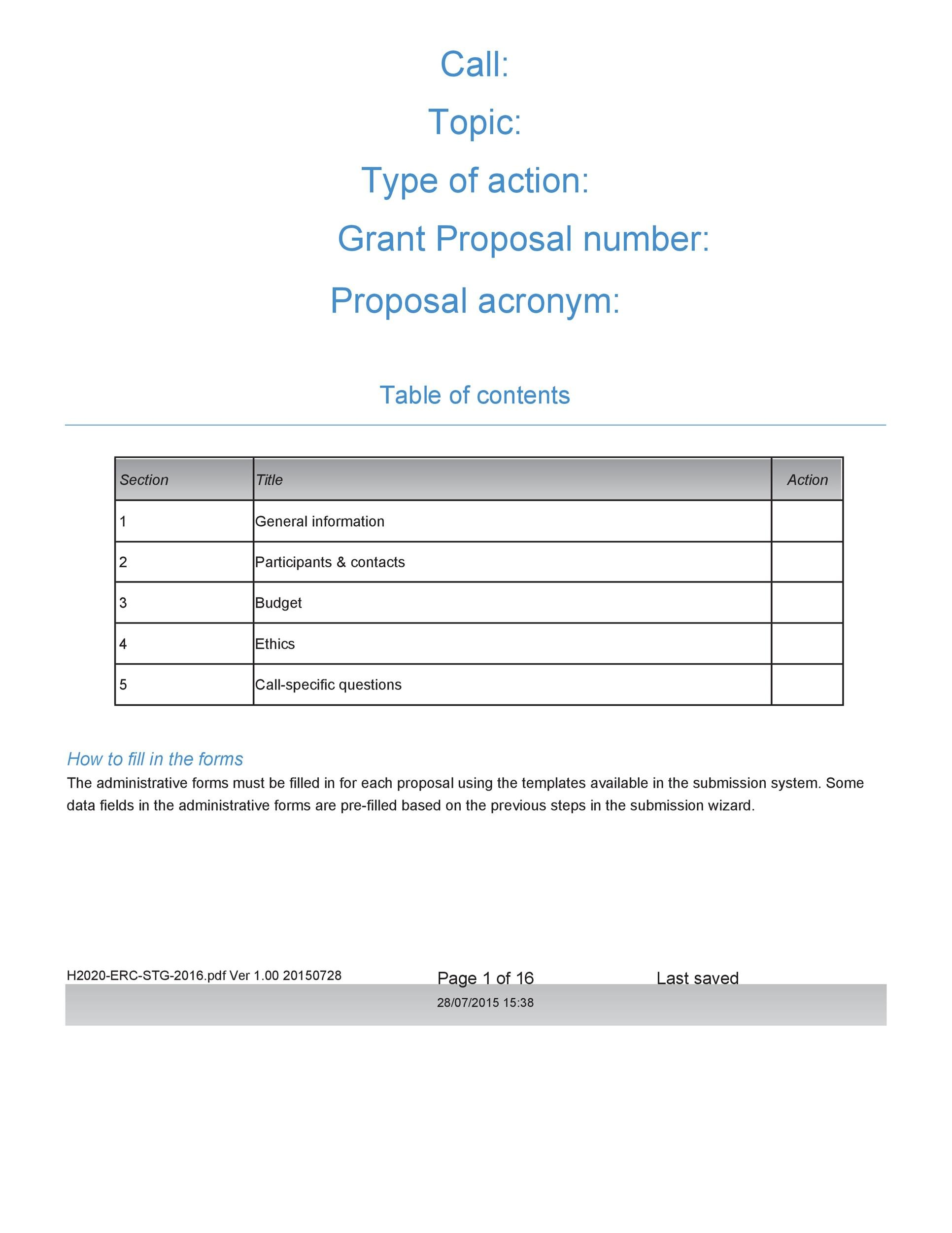 Free grant proposal template  30