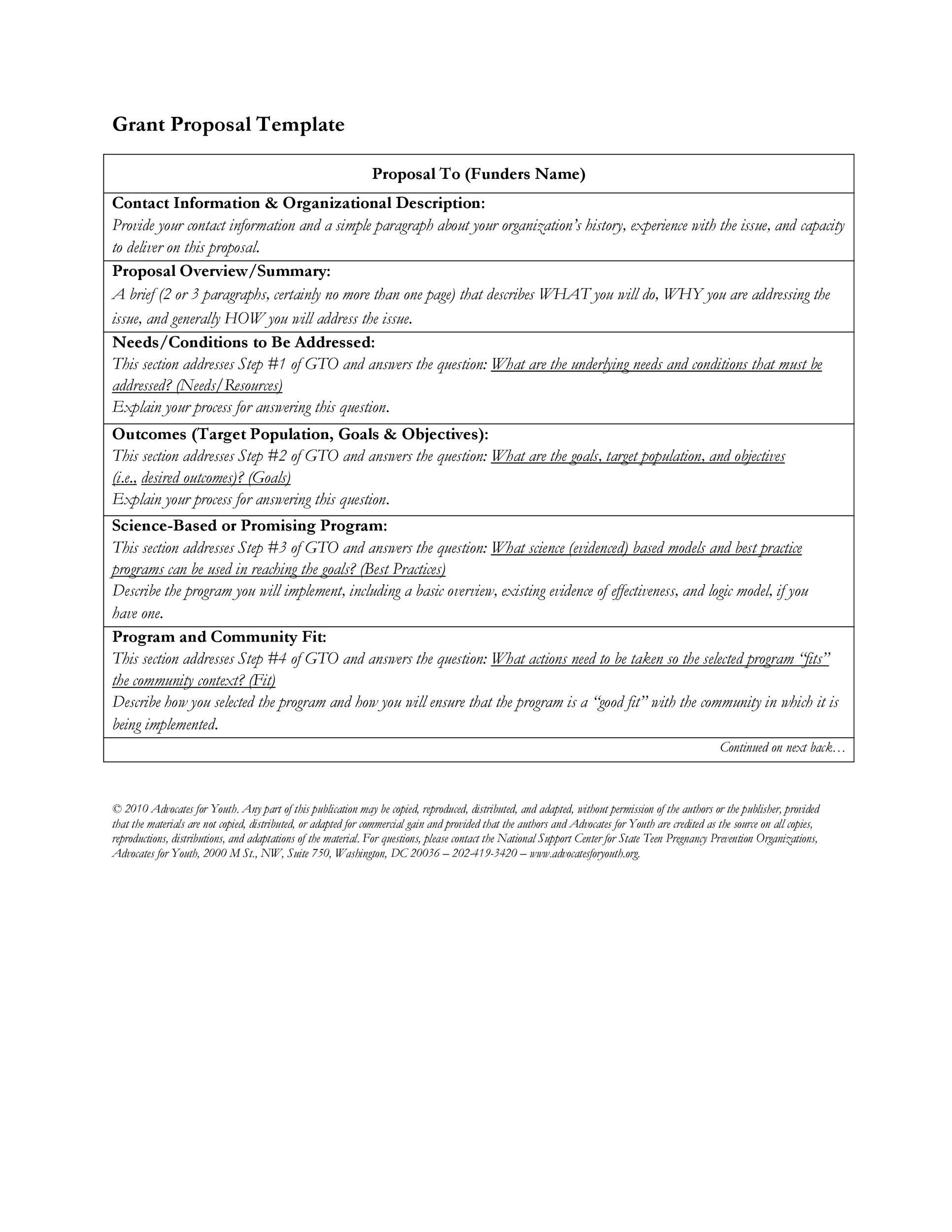 Free grant proposal template  31