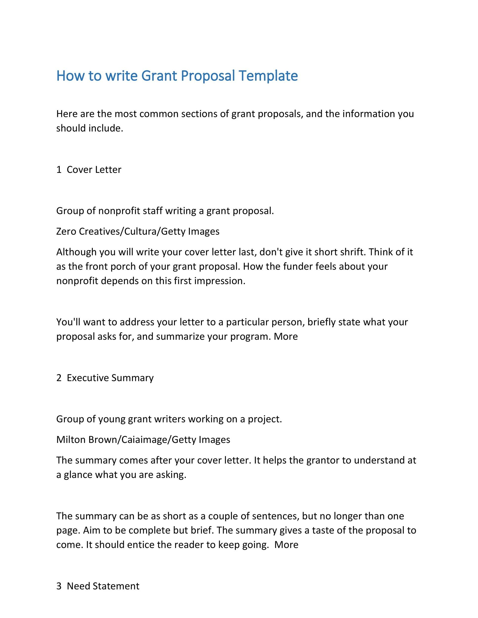 Grant Proposal Templates Nsf NonProfit Research