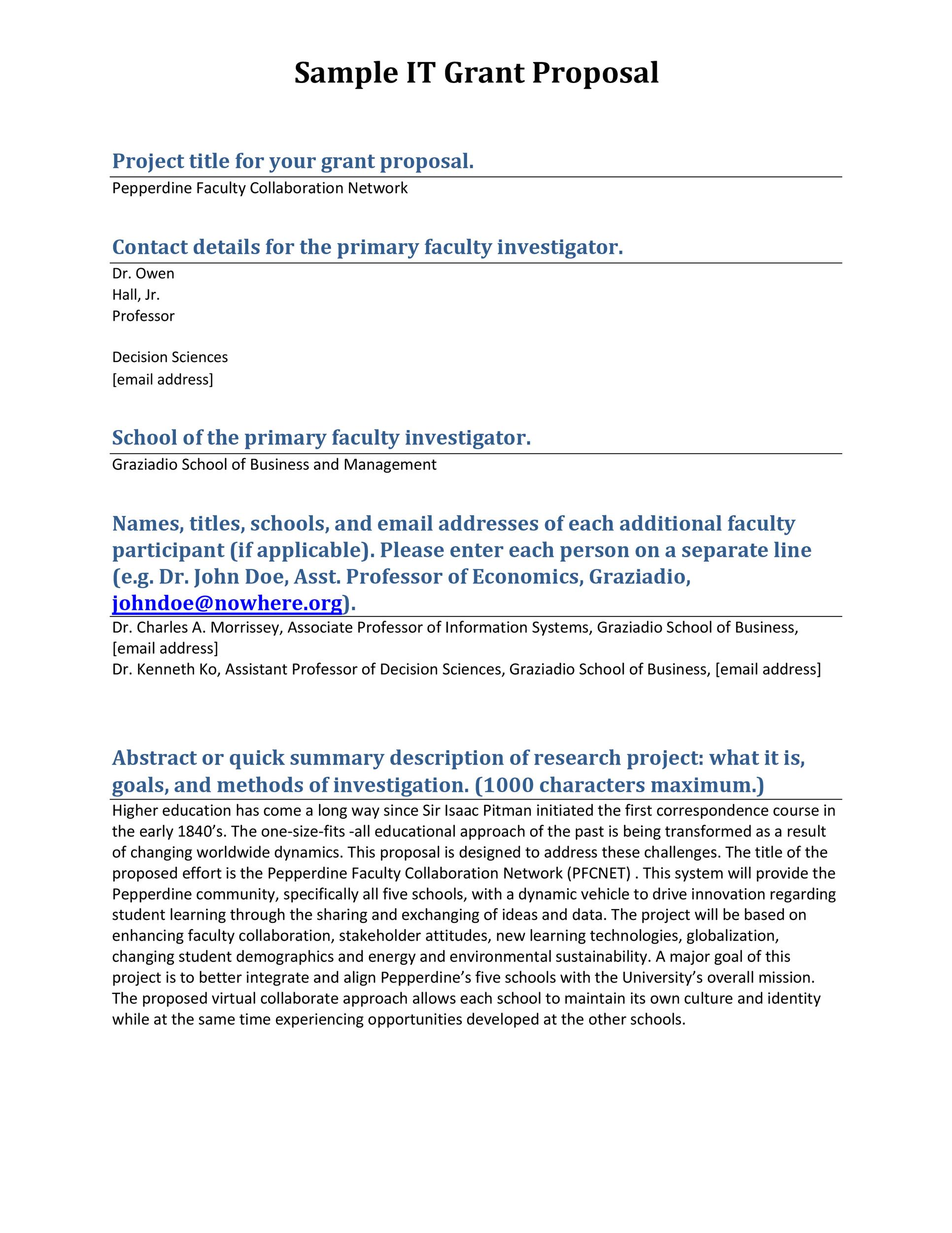Free grant proposal template  33