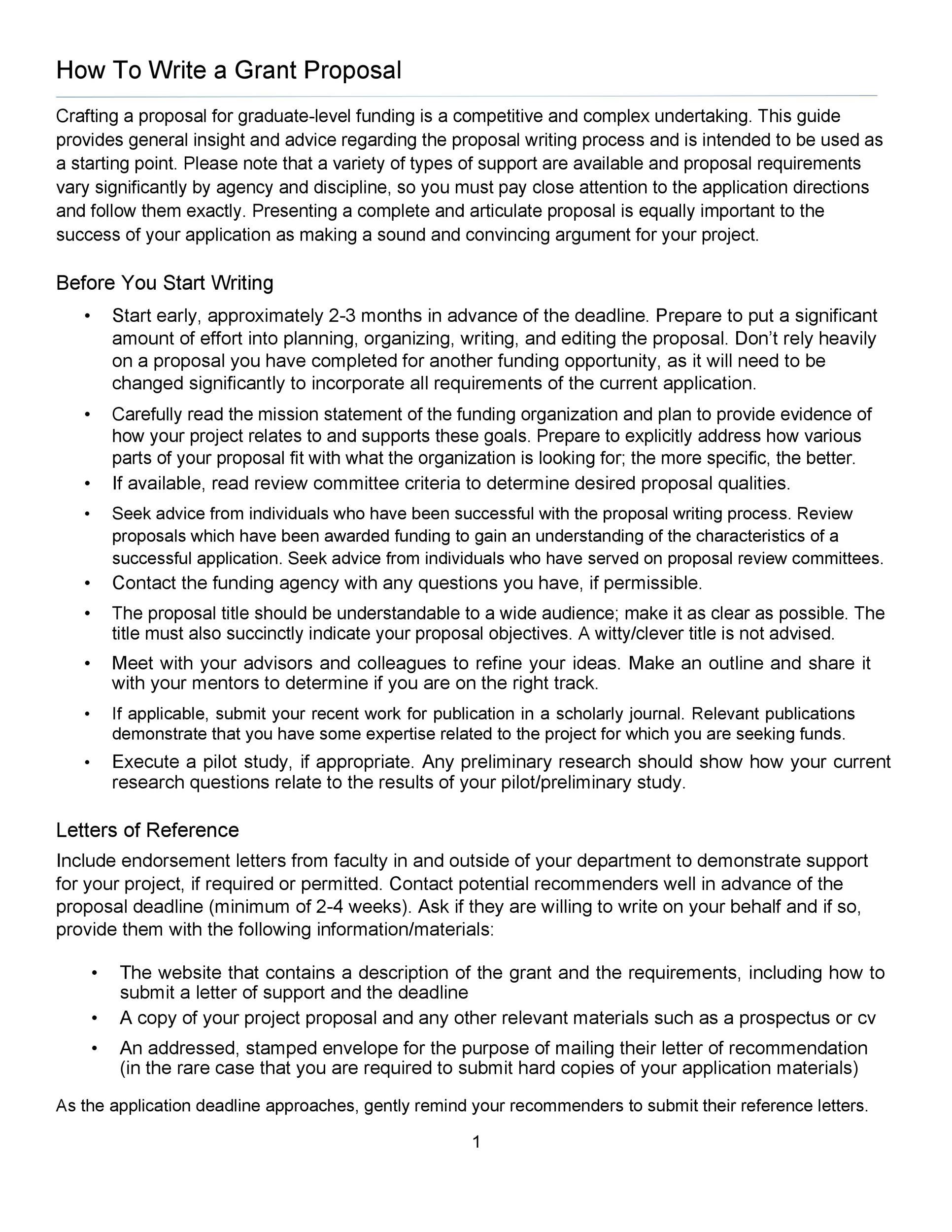 Free grant proposal template  35