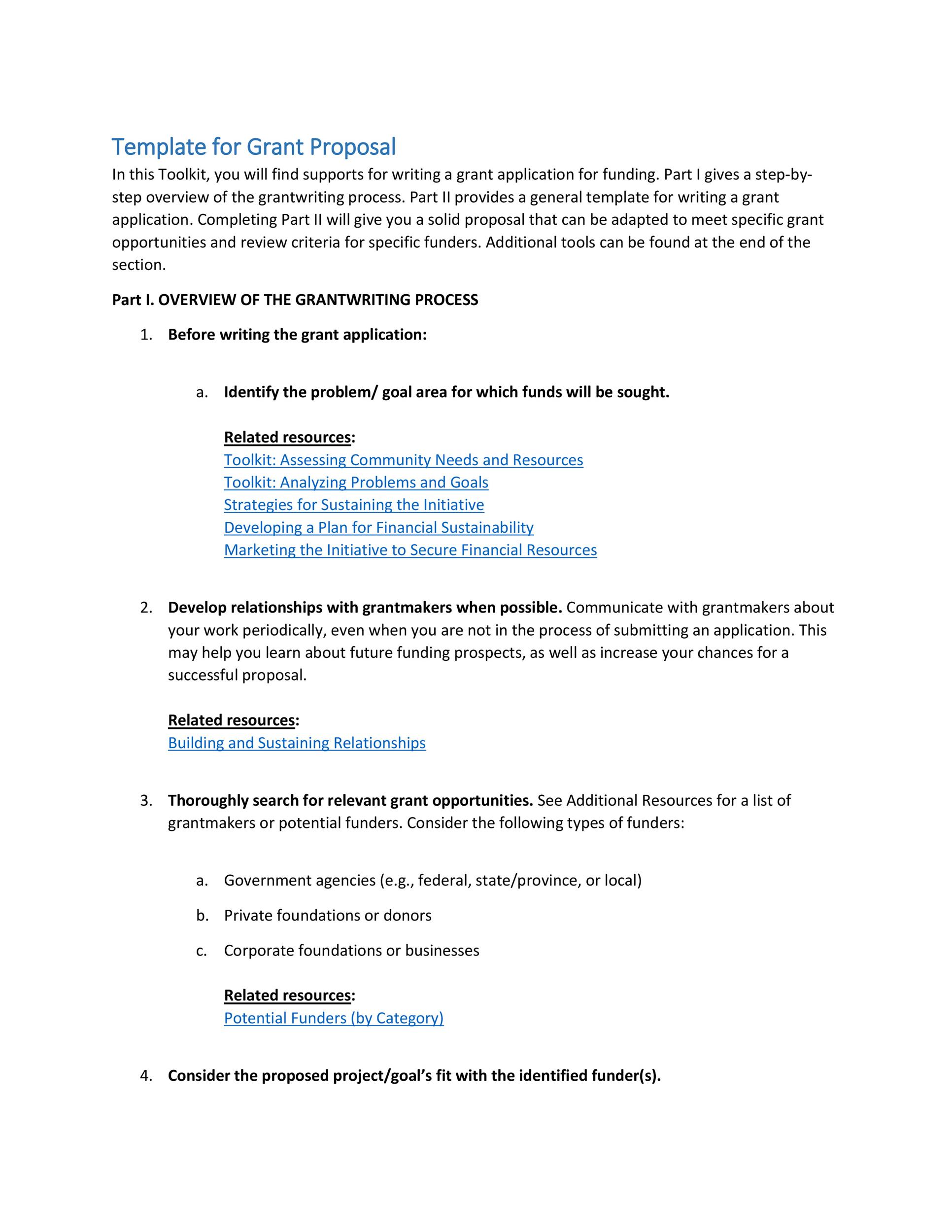 Free grant proposal template  38
