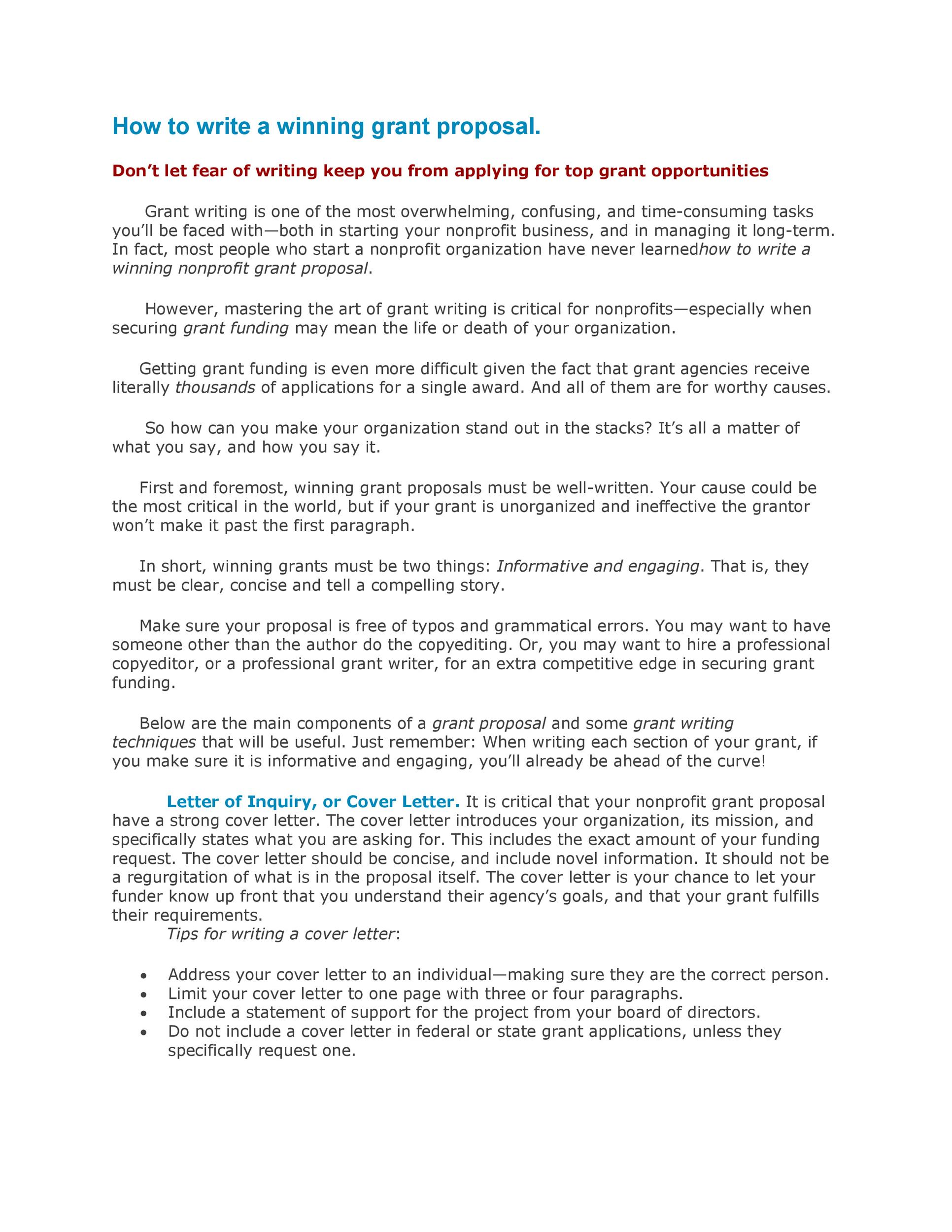 how to write project proposal writing