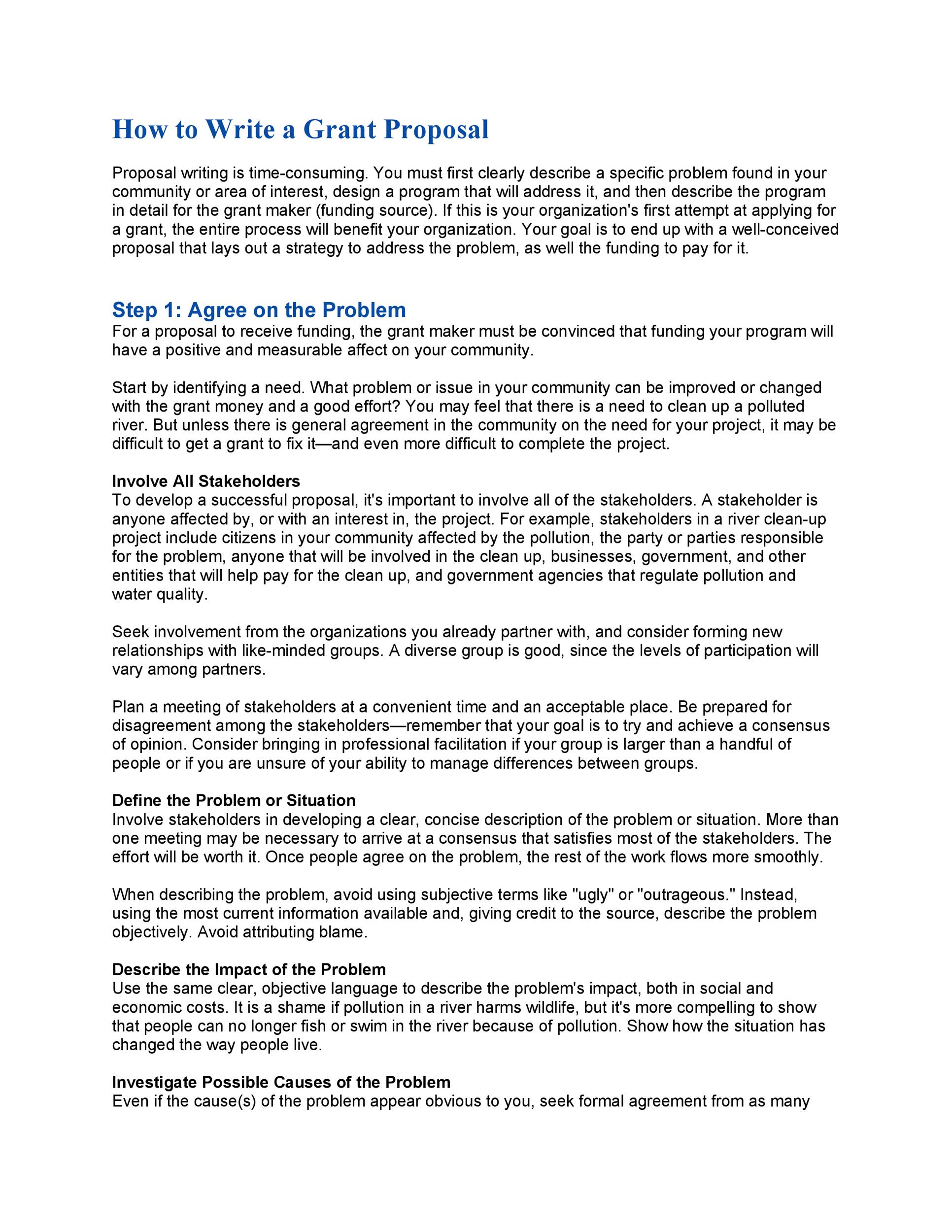 Grant Proposal Template 40 Grant Proposal Templates Nsf Non Profit