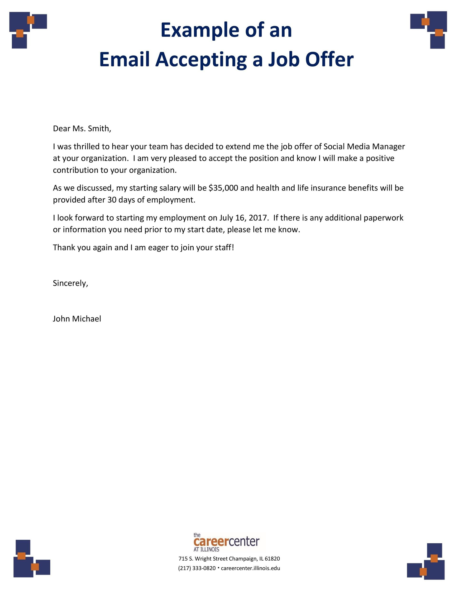 Free job acceptance letter 23