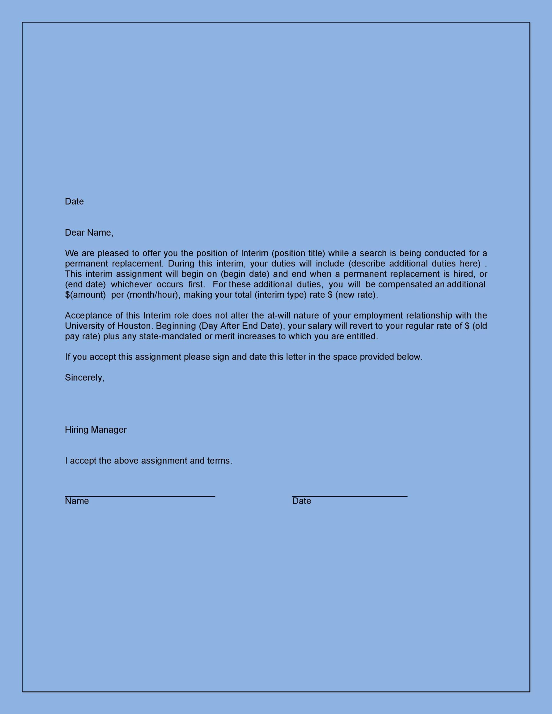 Free job acceptance letter 31