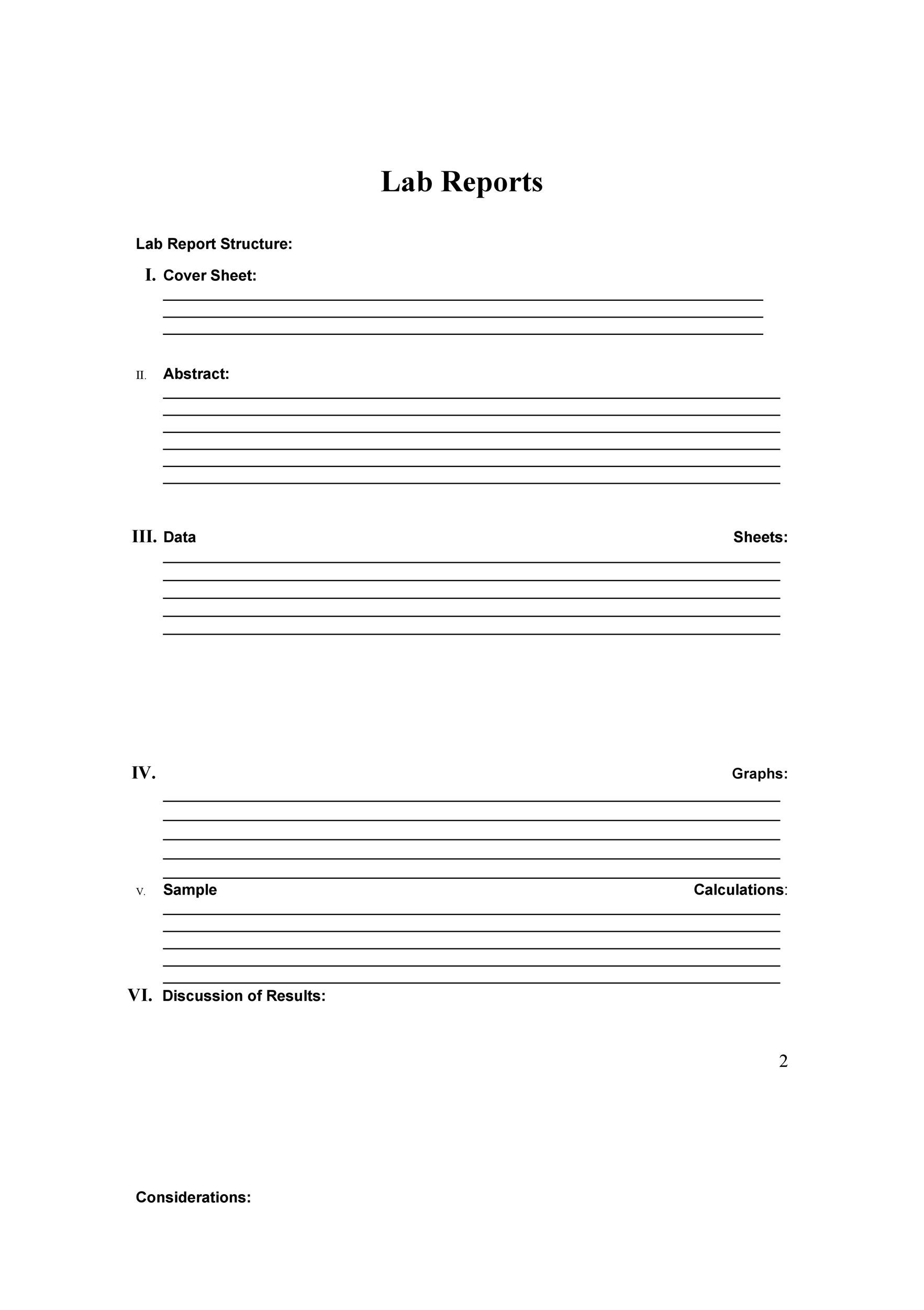 Free lab report template 11